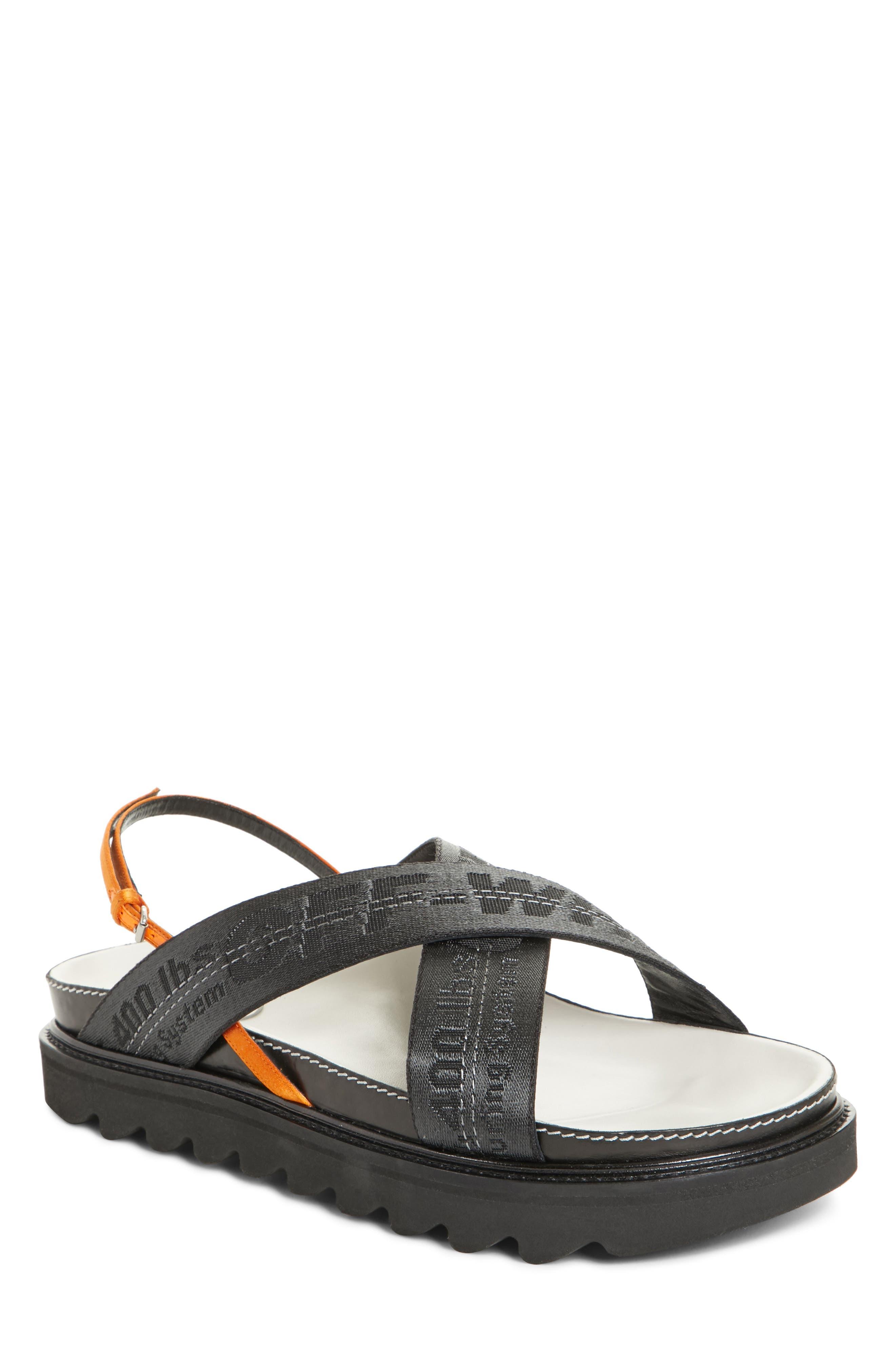 Industrial Belt Sandal,                             Main thumbnail 1, color,                             Black Black