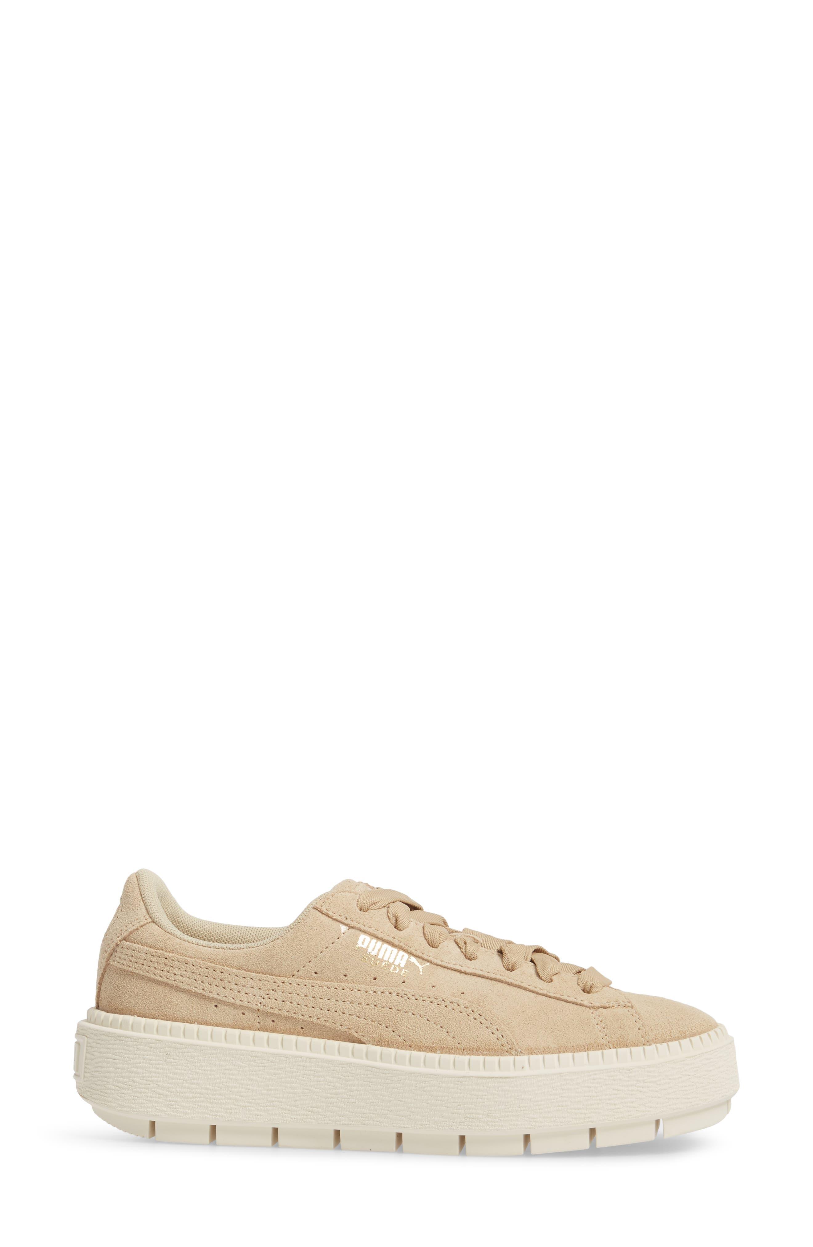 Platform Trace Sneaker,                             Alternate thumbnail 3, color,                             Safari-Marshamallow