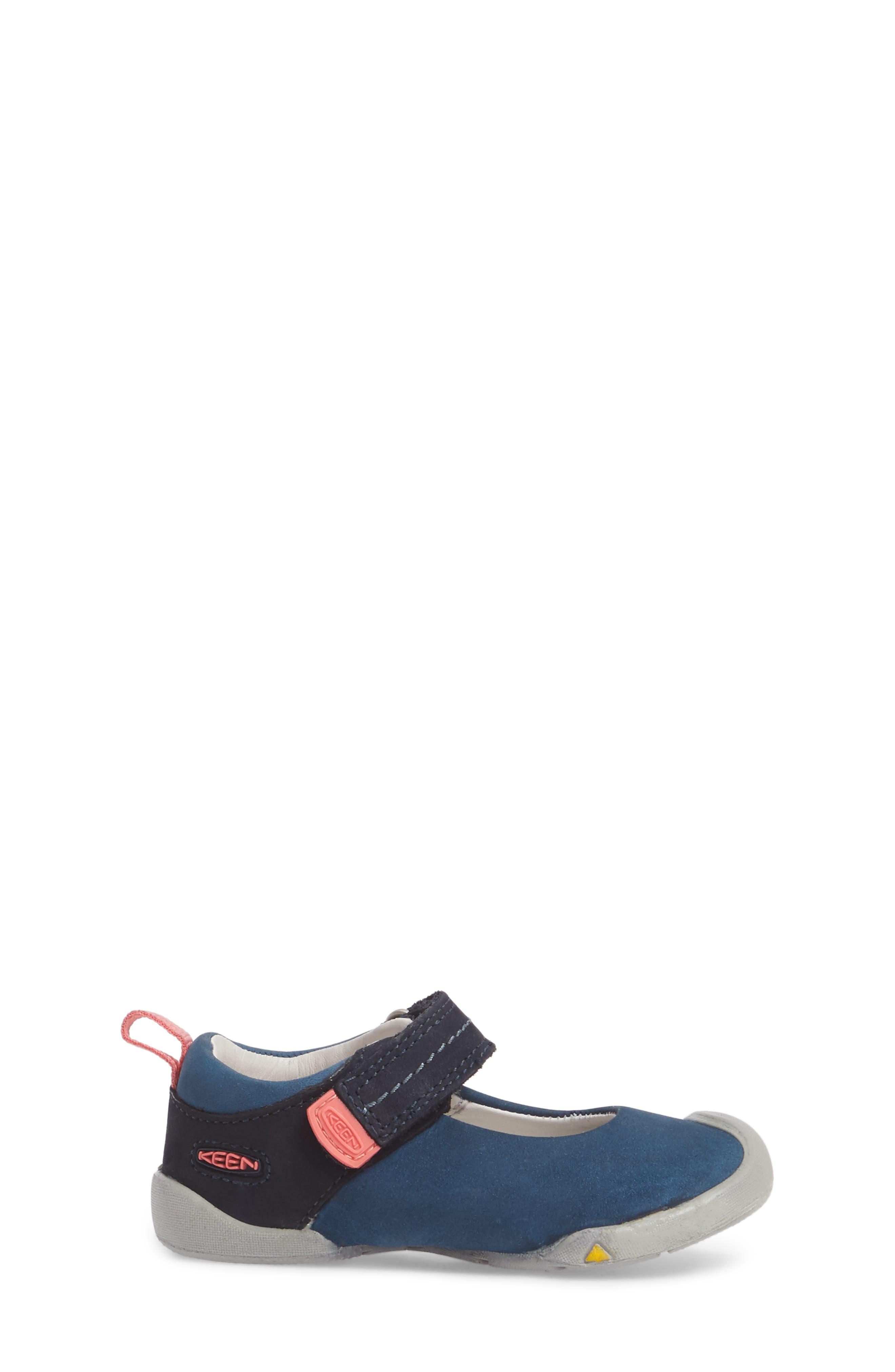 Pep Mary Jane-T Sneaker,                             Alternate thumbnail 3, color,                             Dress Blues/ Sugar Coral