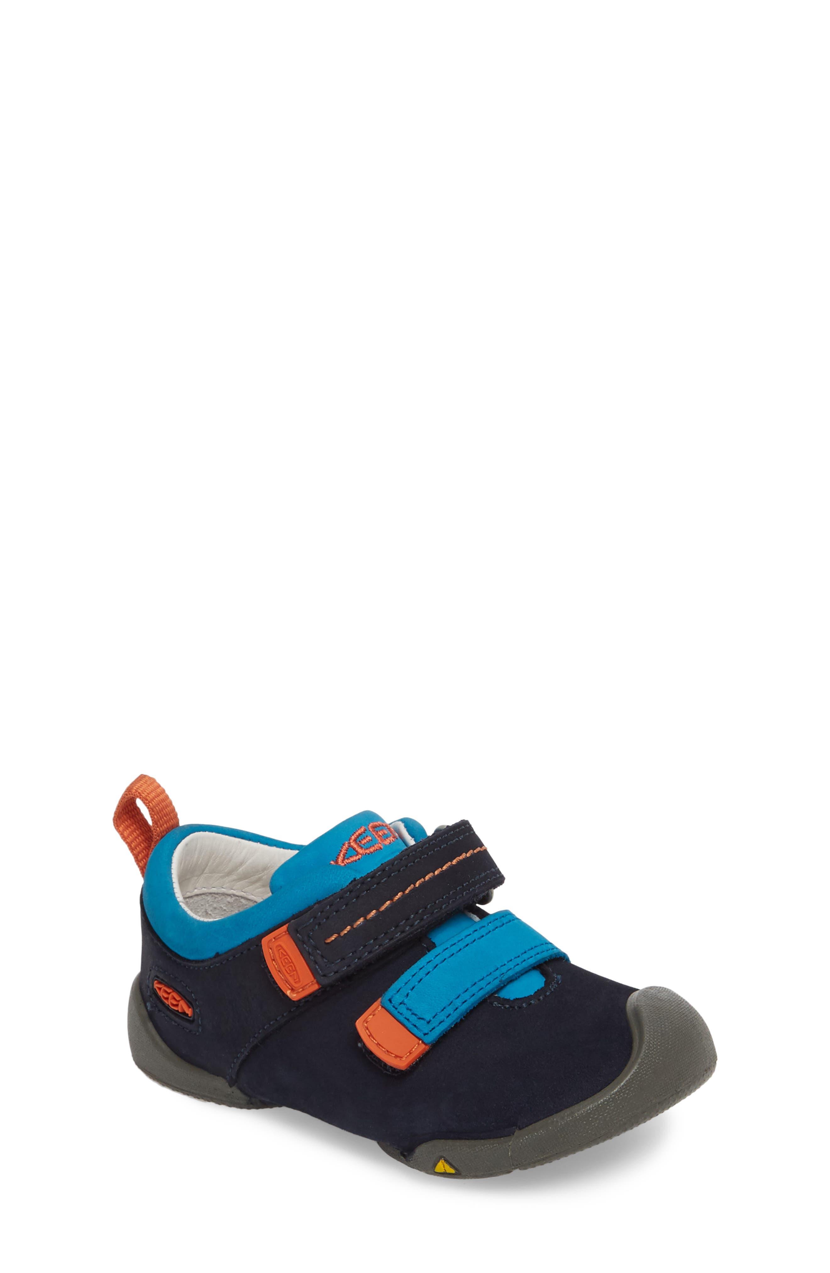 Pep Double Strap-T Sneaker,                             Main thumbnail 1, color,                             Dress Blues/ Koi