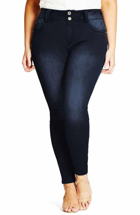 City Chic Asha Skinny Jeans (Plus Size)