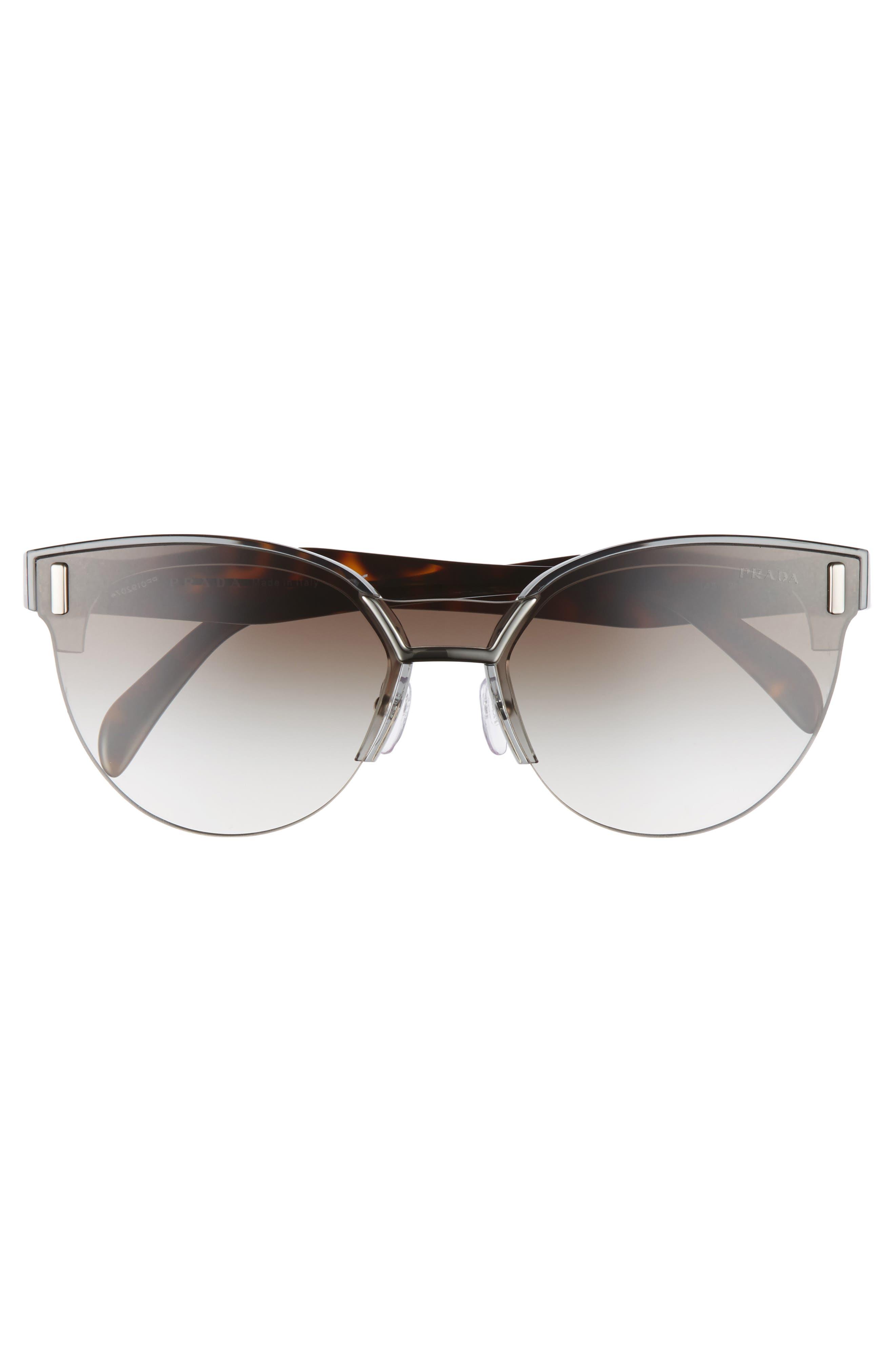 50mm Semi Rimless Gradient Sunglasses,                             Alternate thumbnail 3, color,                             Grey Gradient