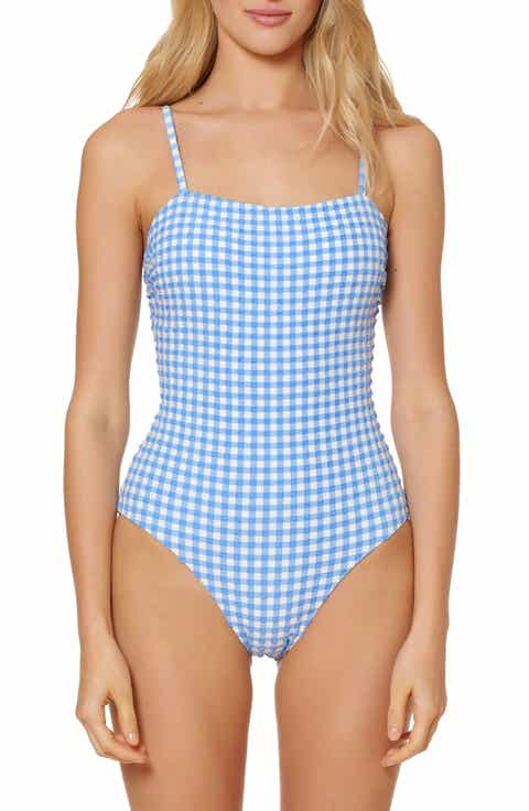 Red Carter Gingham One-Piece Swimsuit
