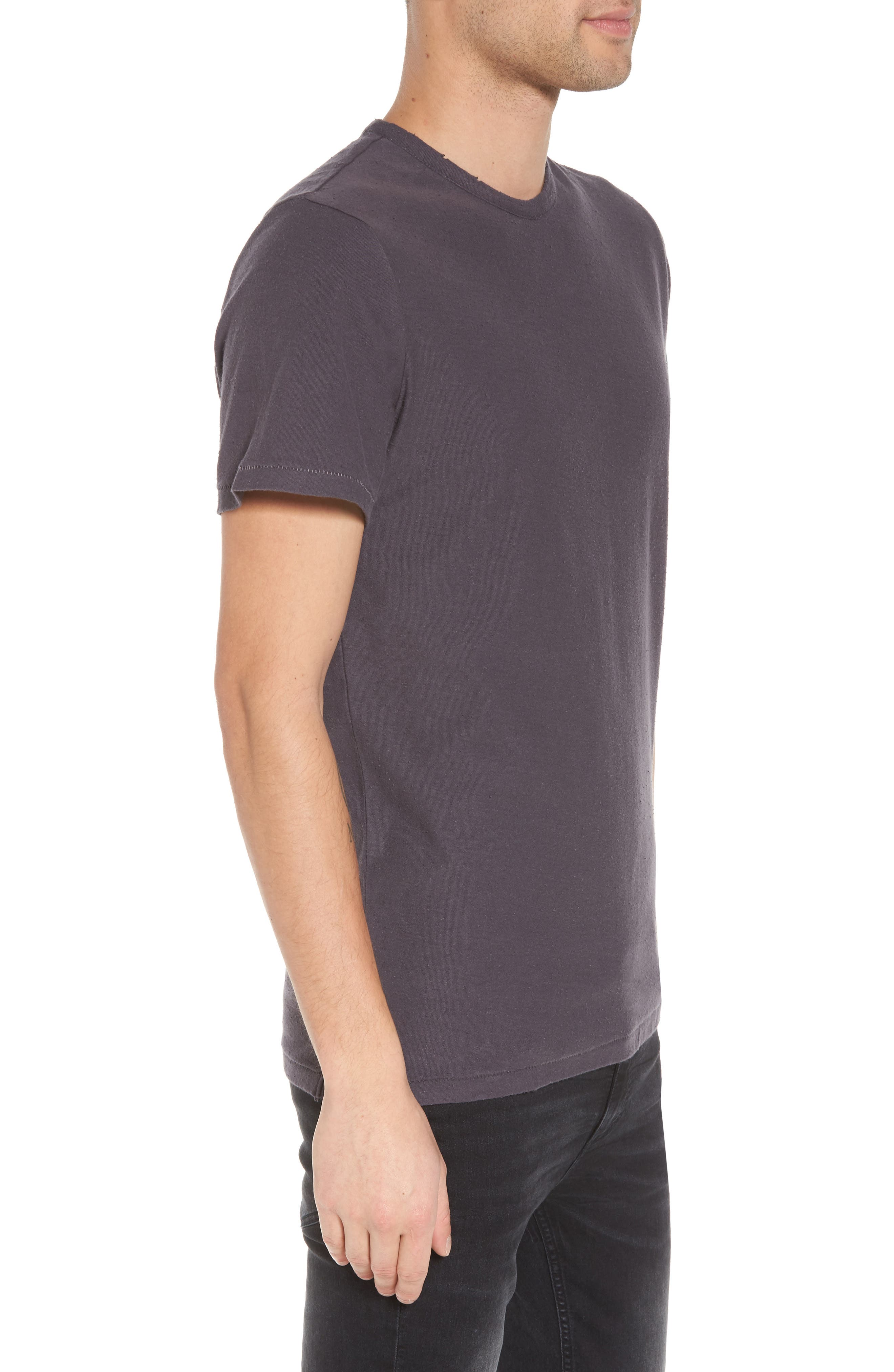 Nep Crewneck T-Shirt,                             Alternate thumbnail 3, color,                             Grey Stonehenge