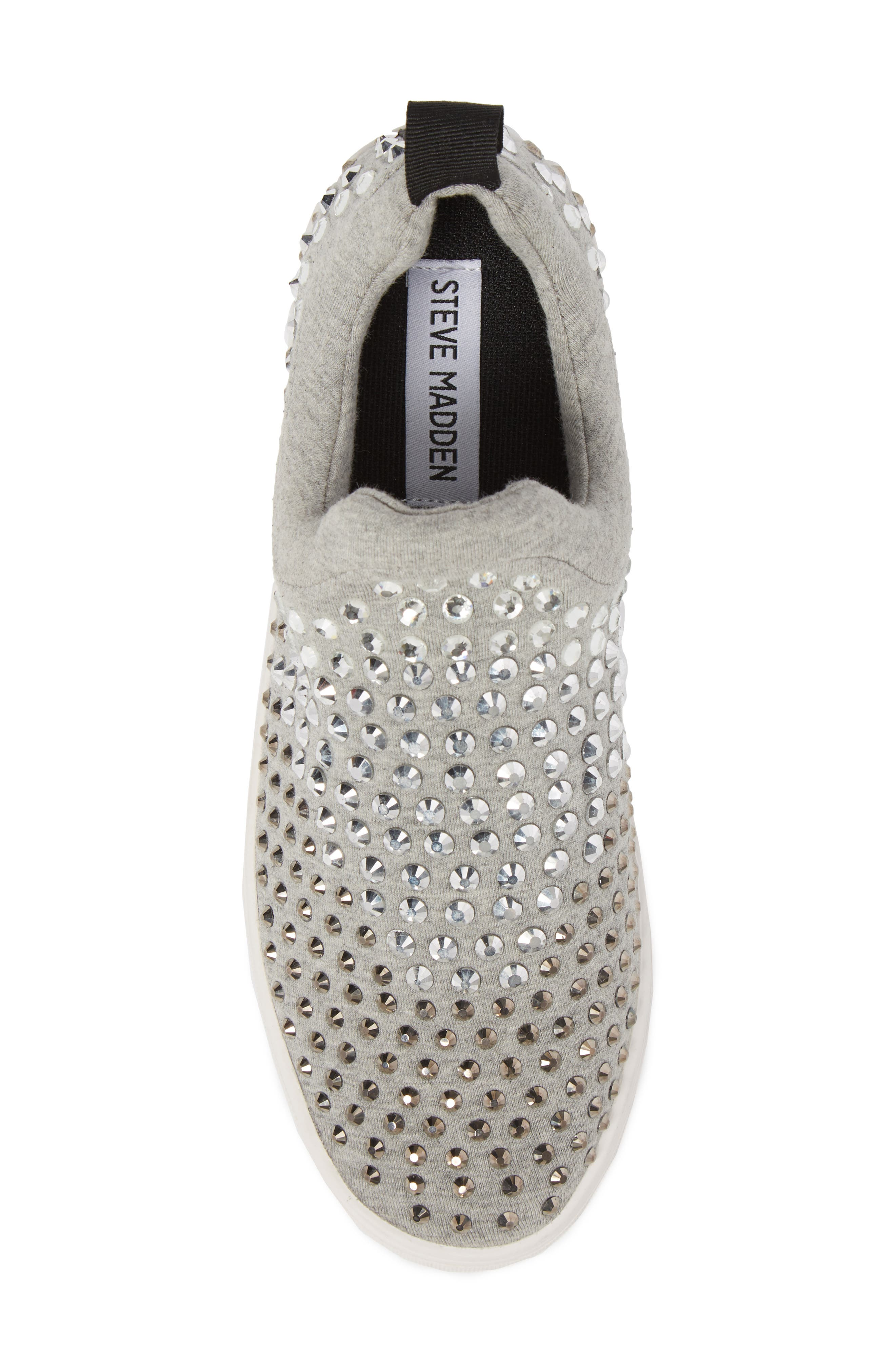 Alternate Image 5  - Steve Madden Sherry Crystal Embellished Sneaker (Women)