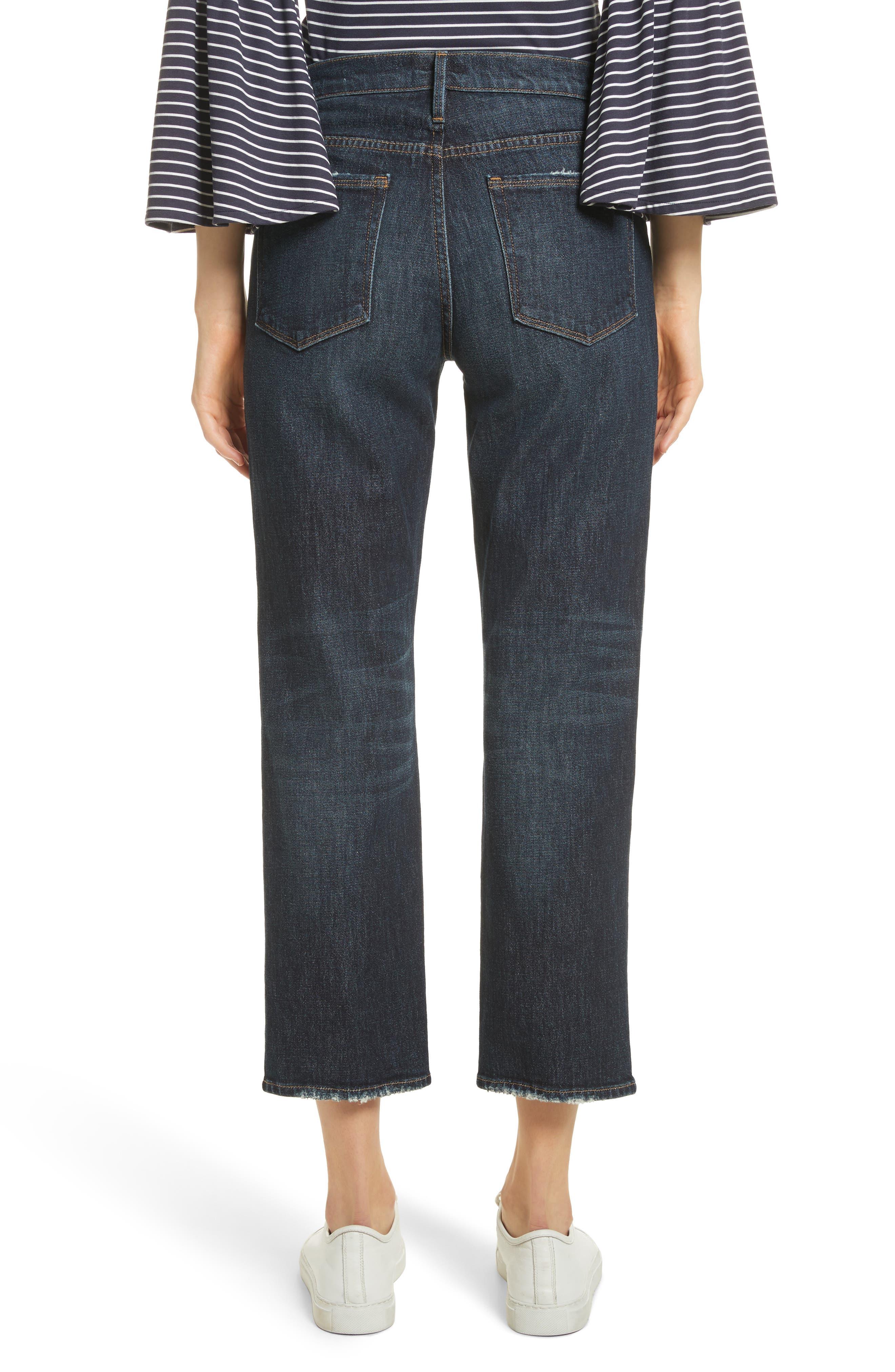 Straight Leg Ankle Jeans,                             Alternate thumbnail 3, color,                             Ellisfield