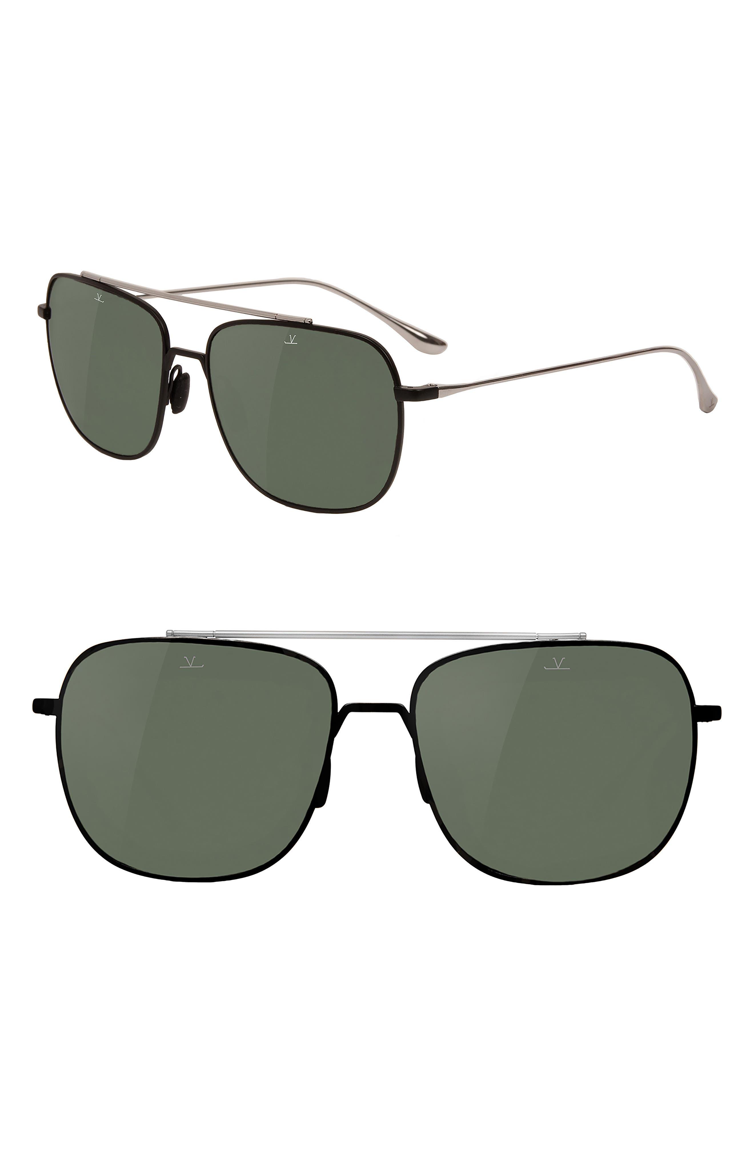 Main Image - Vuarnet Swing 58mm Polarized Navigator Sunglasses