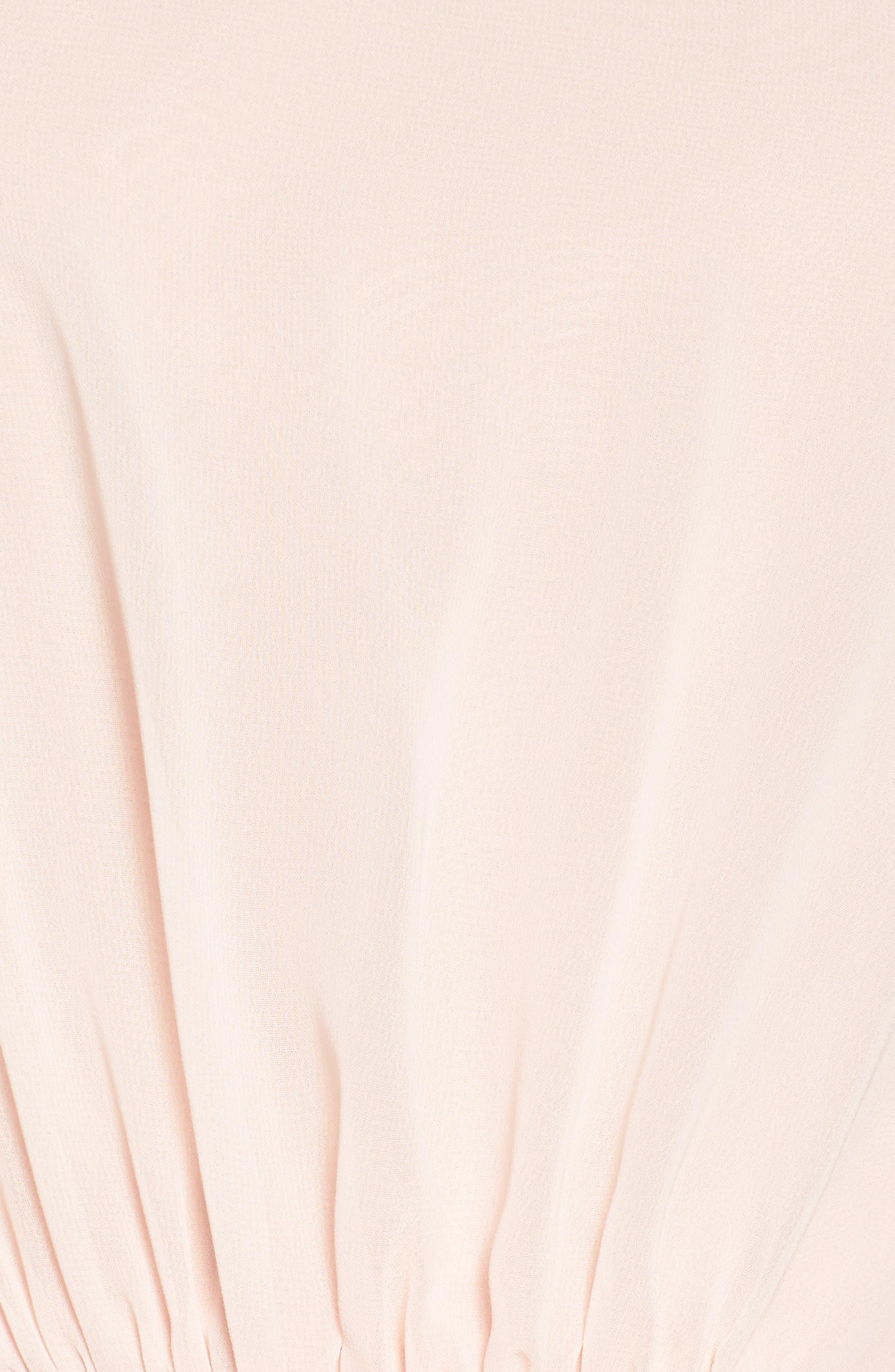 Alternate Image 5  - Amsale One-Shoulder Chiffon A-Line Gown