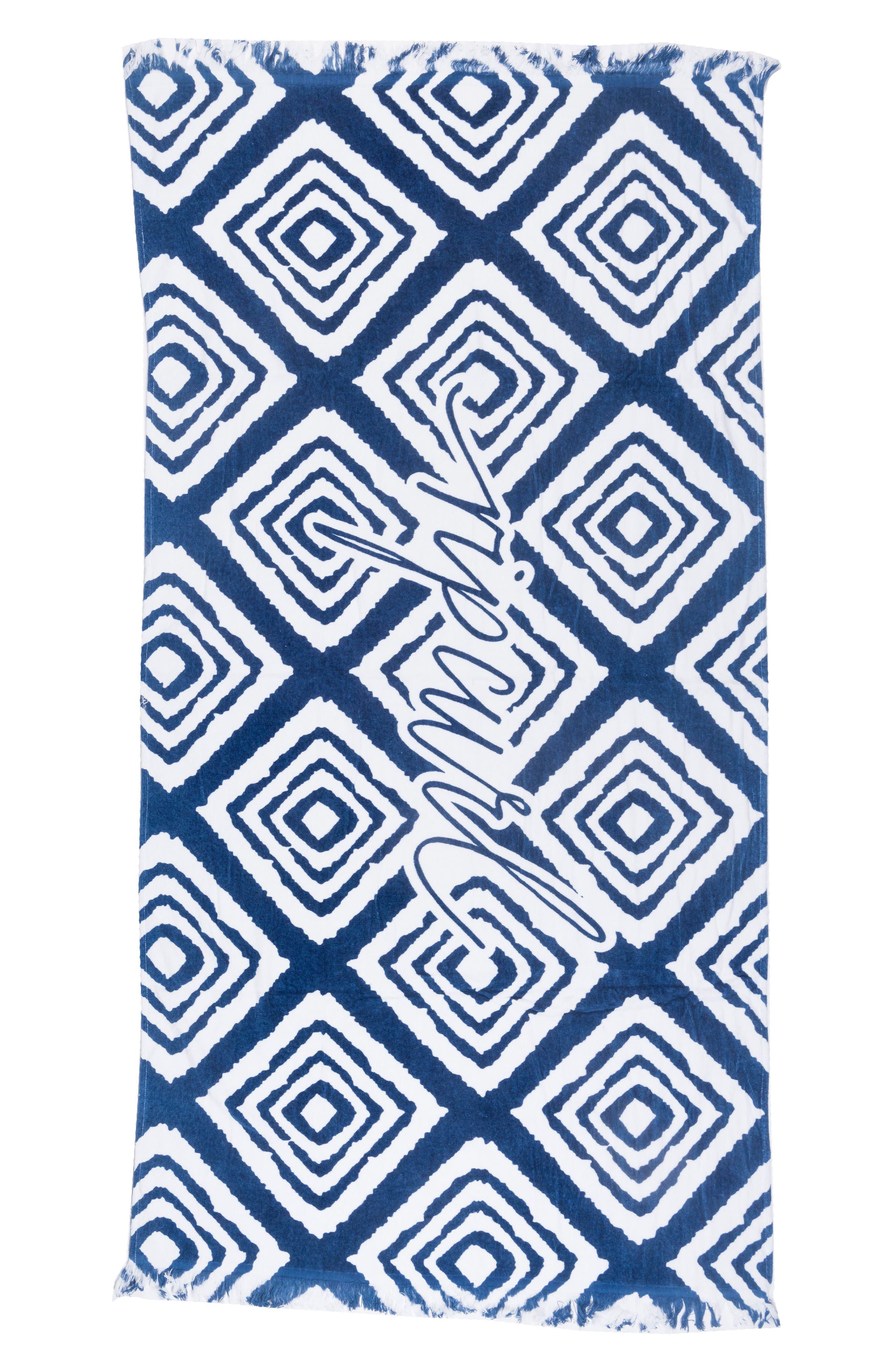 Bazaar Beach Towel,                         Main,                         color, Blue