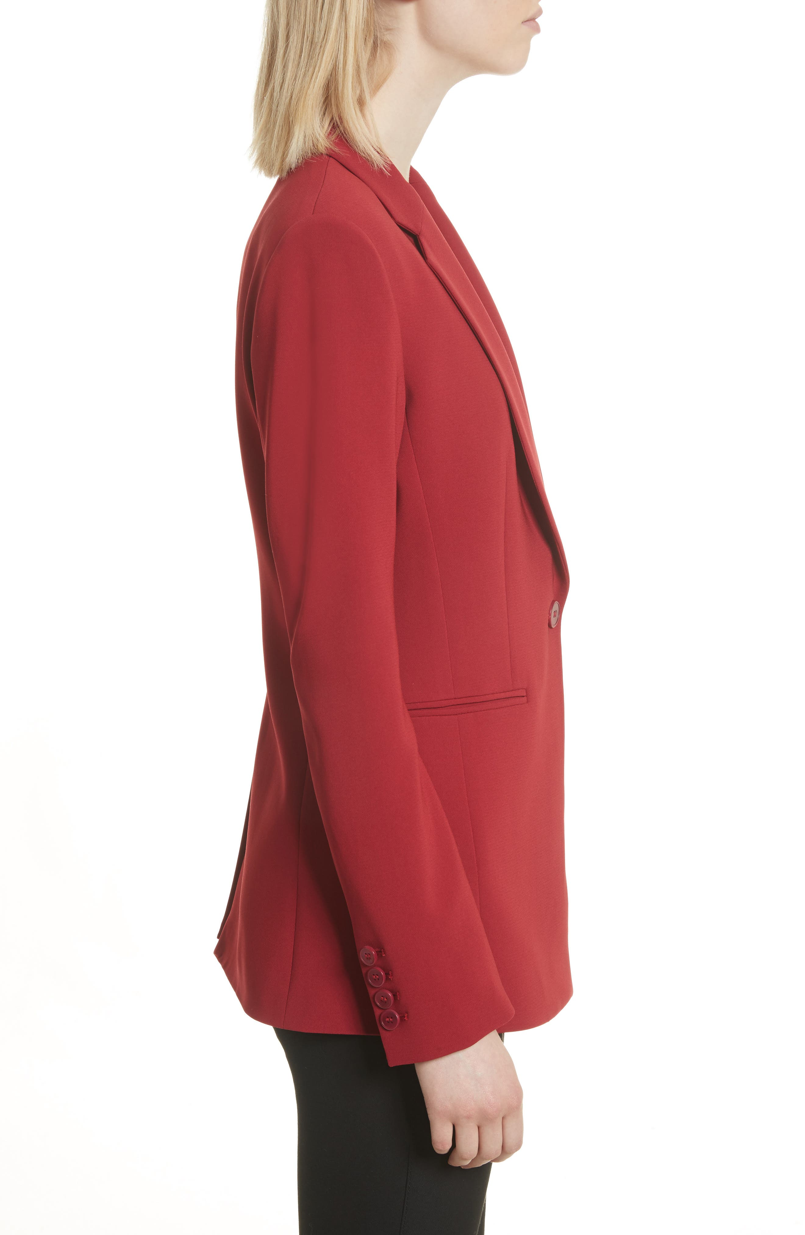 Admiral Crepe Power Jacket,                             Alternate thumbnail 3, color,                             Bright Raspberry