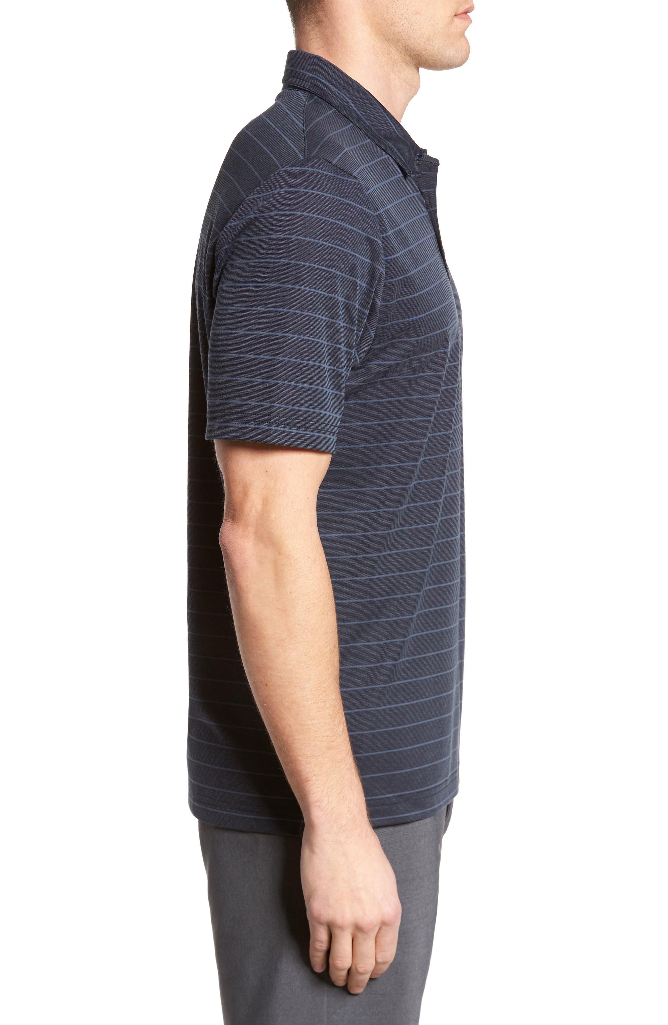 Marini Polo Shirt,                             Alternate thumbnail 3, color,                             Blue Nights/ Allure
