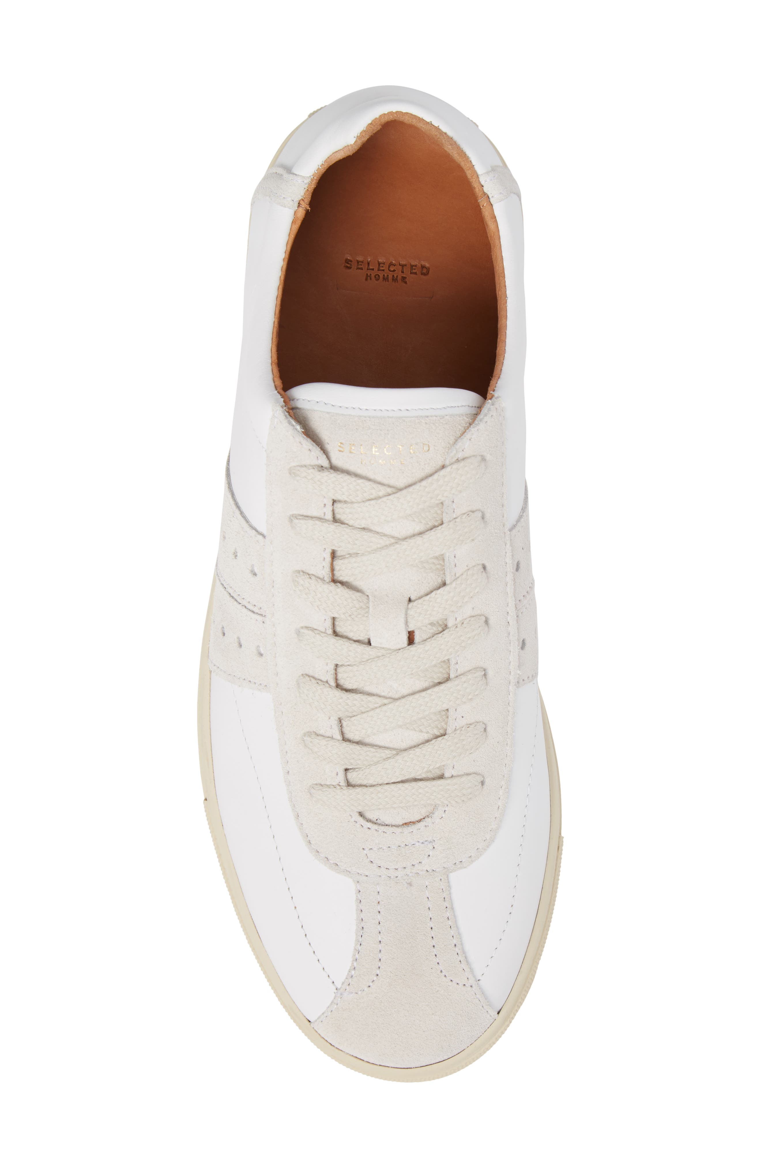 Duran New Mix Sneaker,                             Alternate thumbnail 5, color,                             White Leather/ Suede