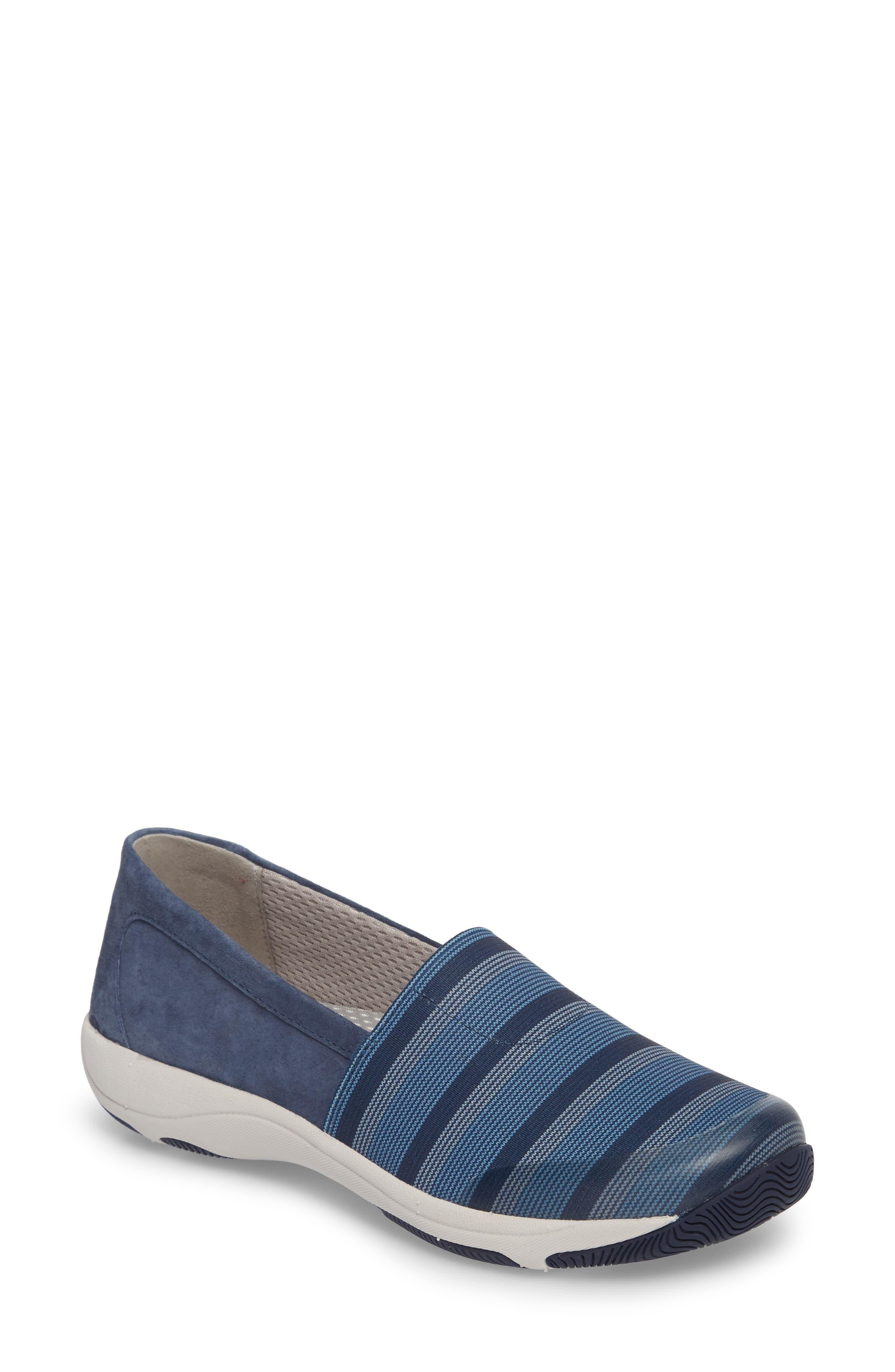 Harriet Slip-On Sneaker,                             Main thumbnail 1, color,                             Blue Suede