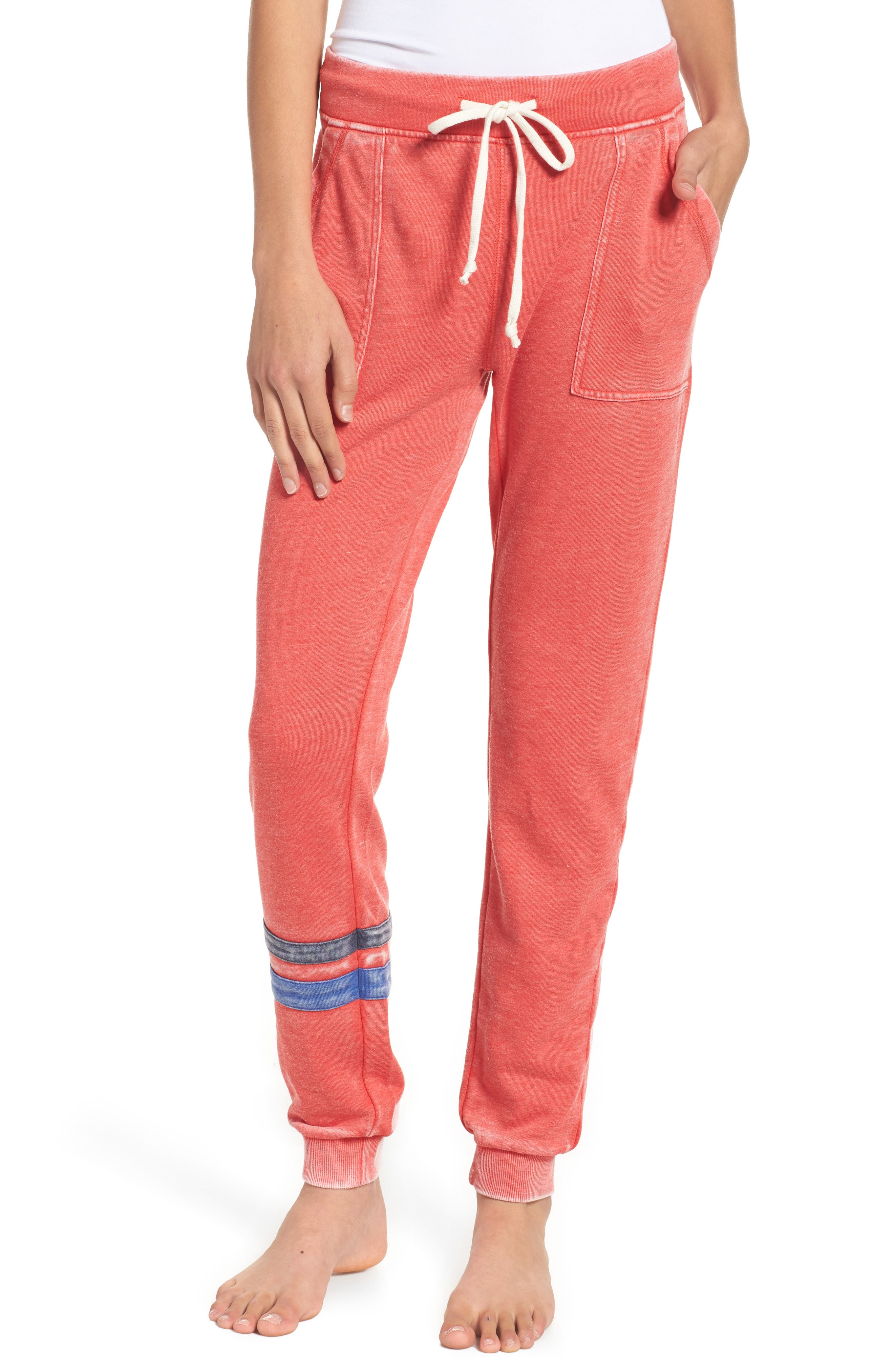 Long Weekend Lounge Jogger Pants,                             Main thumbnail 1, color,                             Red Bloom/ Dark Navy/ Blue