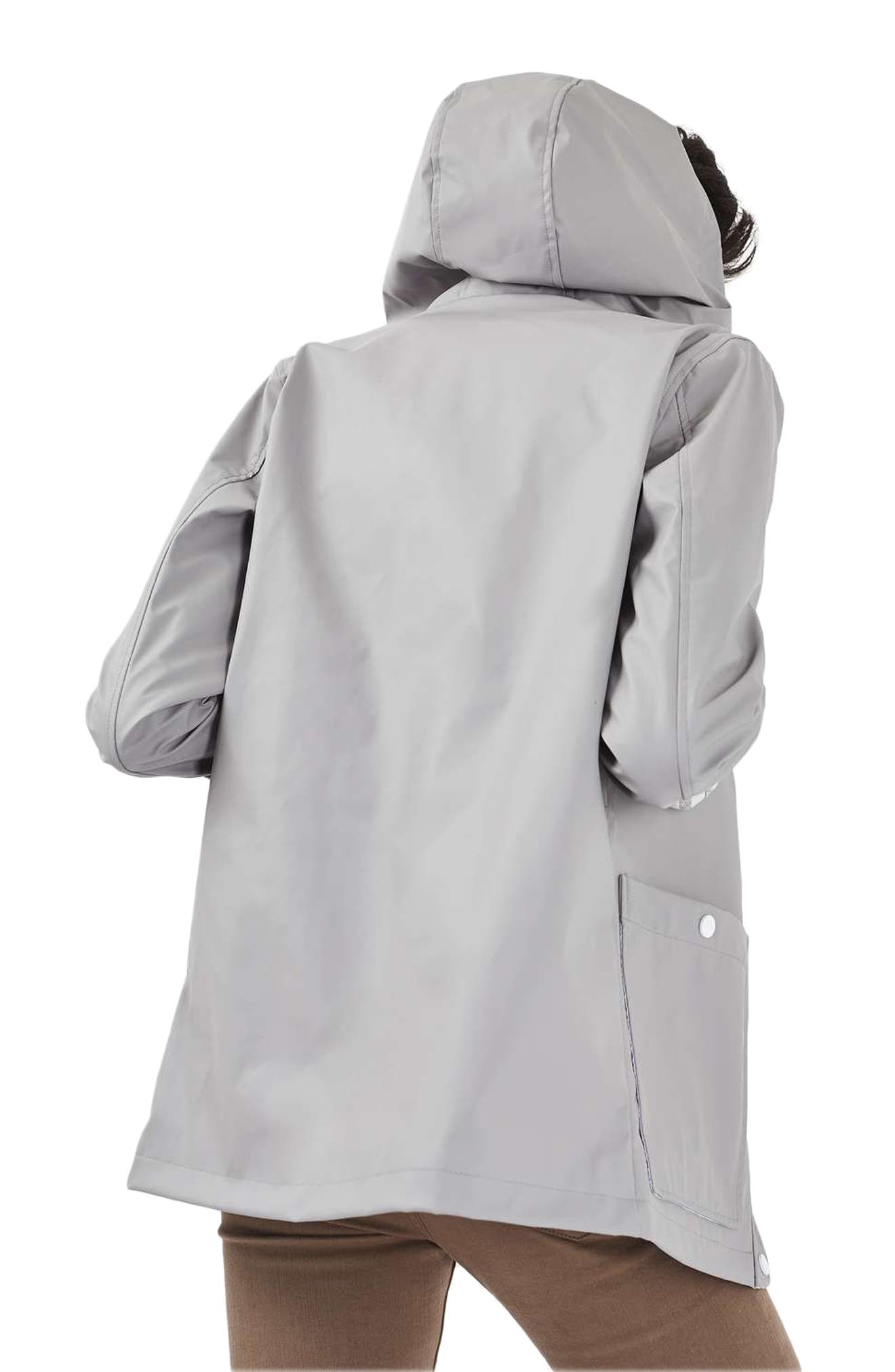 Maisie Rain Jacket,                             Alternate thumbnail 3, color,                             Grey Multi