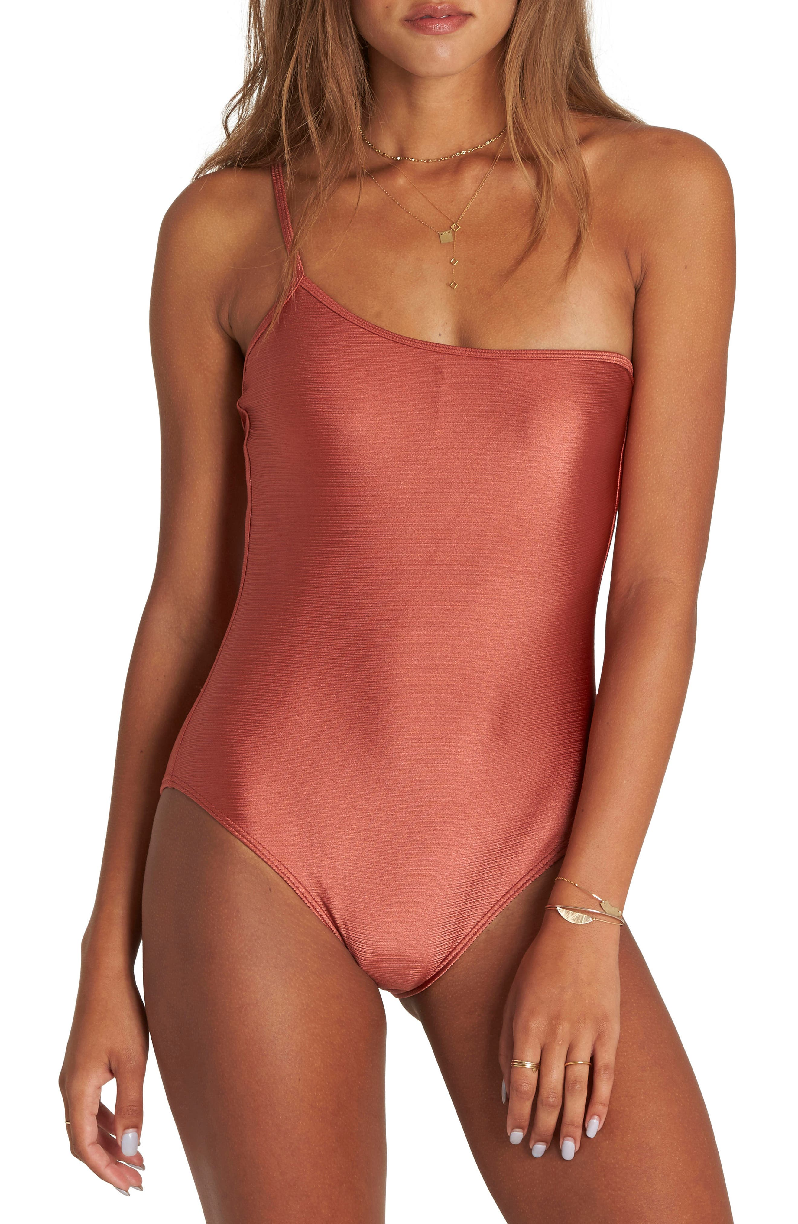 Love Bound One-Piece Swimsuit,                         Main,                         color, Sienna