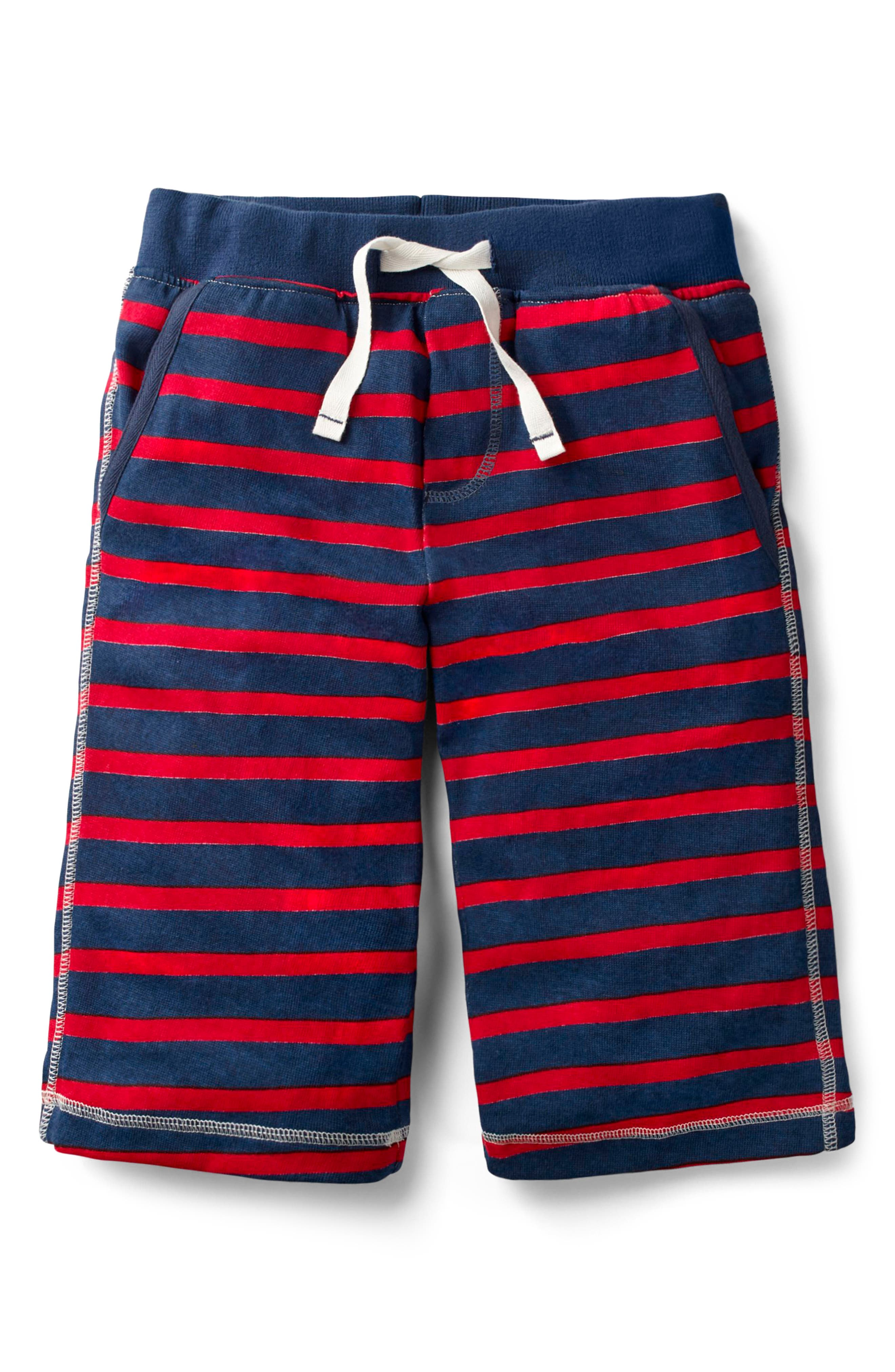 Jersey Baggies Shorts,                             Main thumbnail 1, color,                             Beacon Blue/ Salsa Red