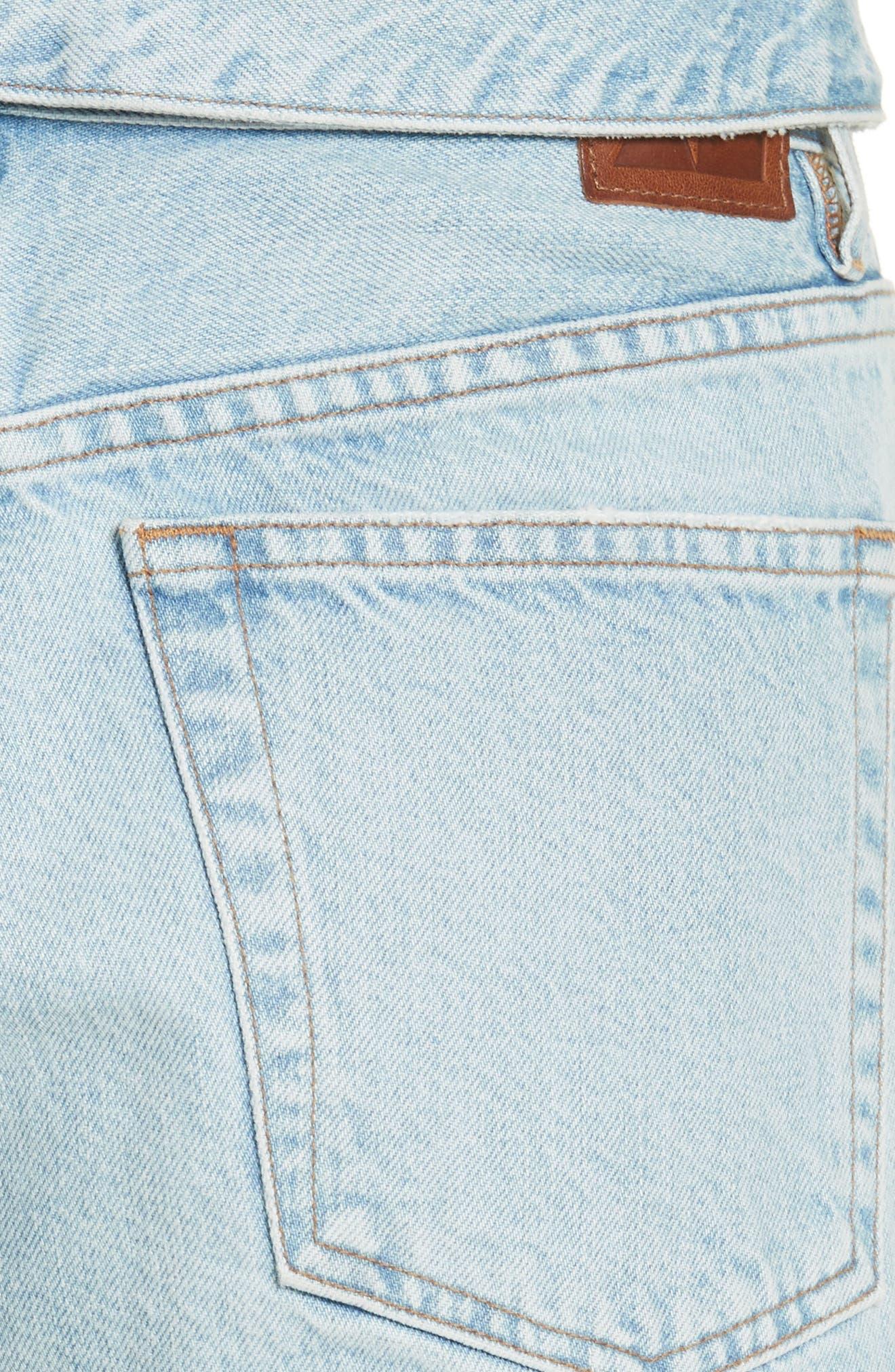 Alternate Image 5  - Jean Atelier Flip Straight Leg Jeans (Sky)