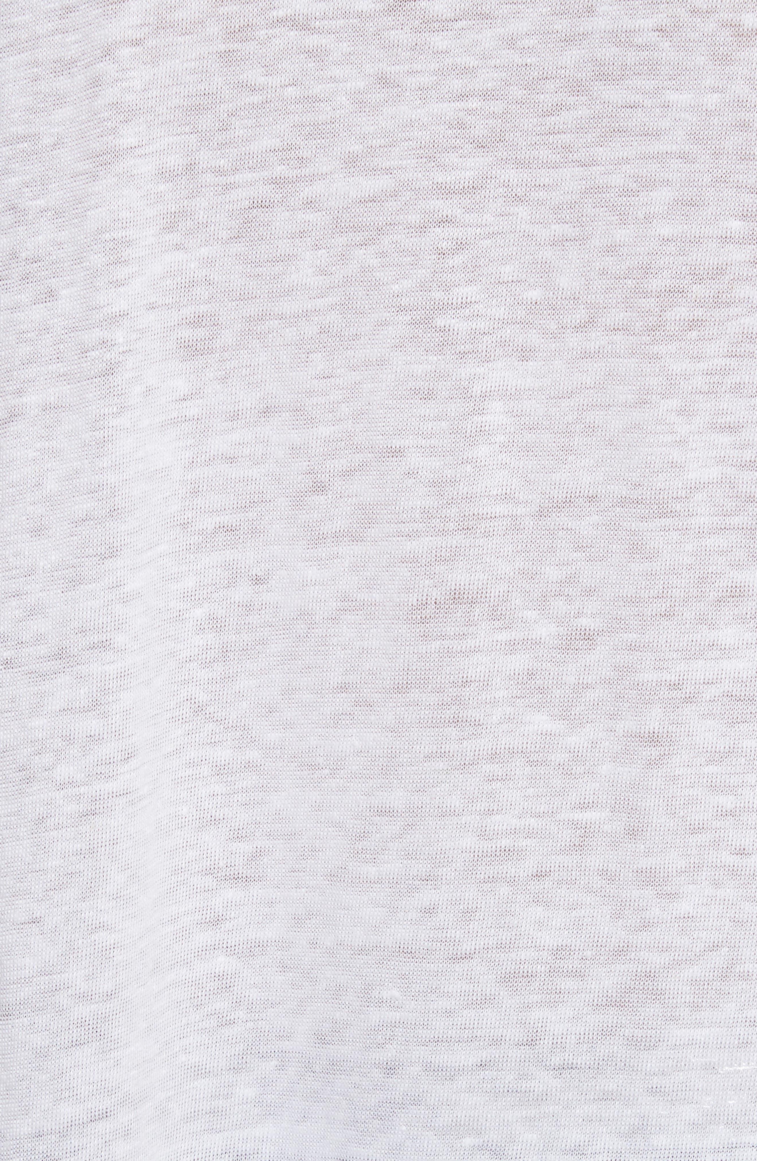 Karami Linen Asymmetrical Lace-Up Top,                             Alternate thumbnail 5, color,                             White