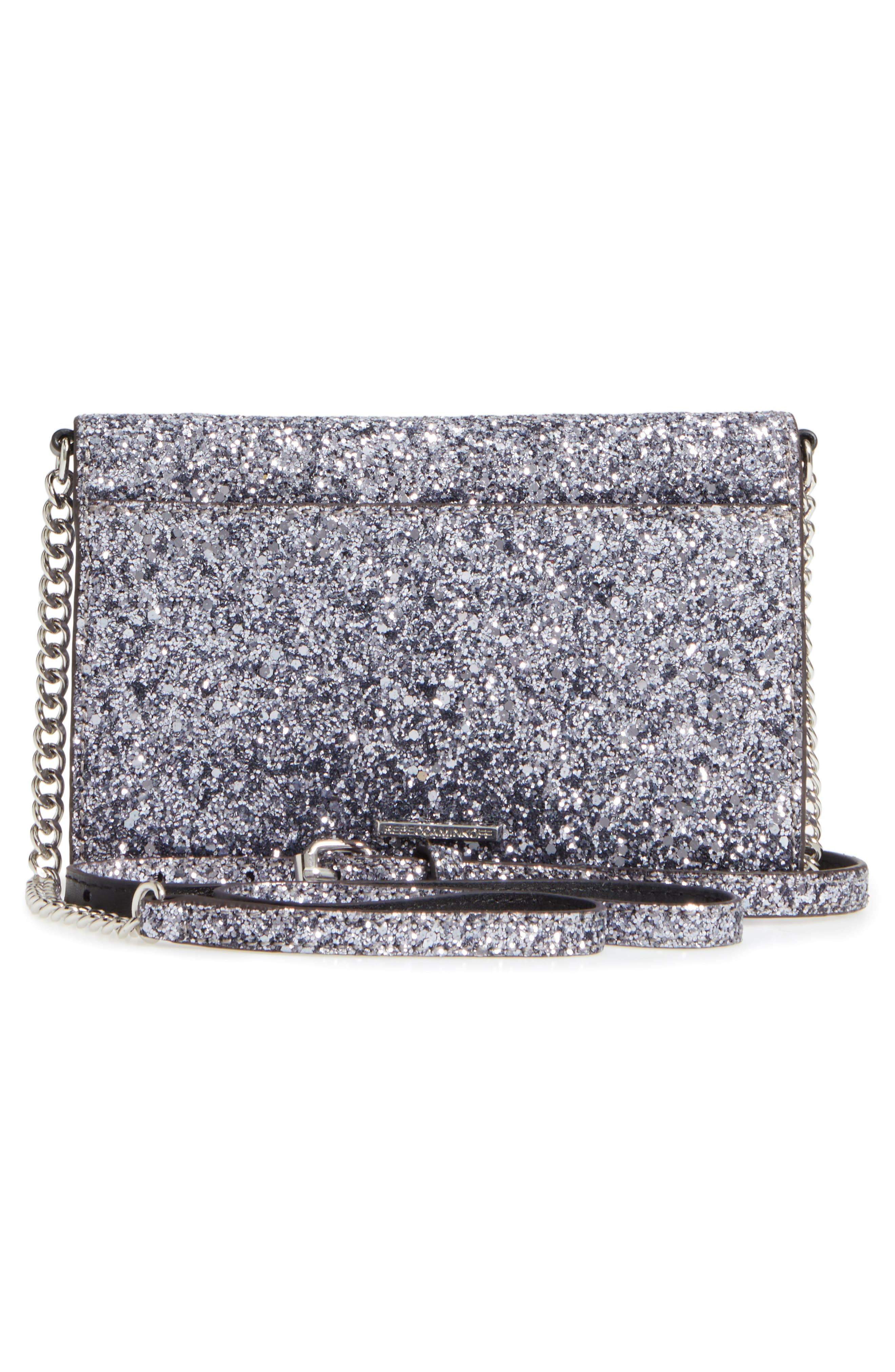 Molly Crossbody Bag,                             Alternate thumbnail 3, color,                             Silver