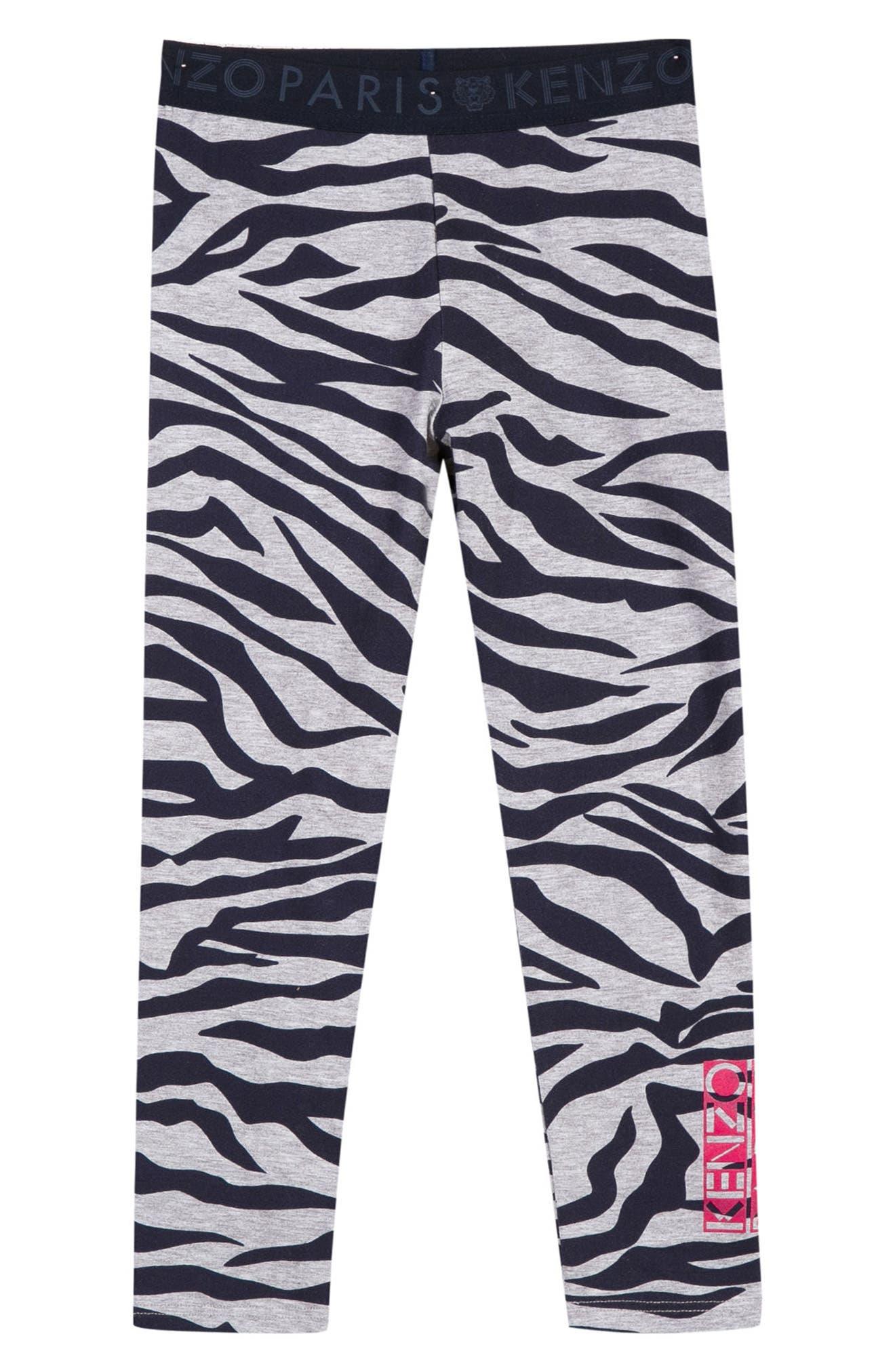 Stripe Leggings,                             Main thumbnail 1, color,                             Light Grey Chine