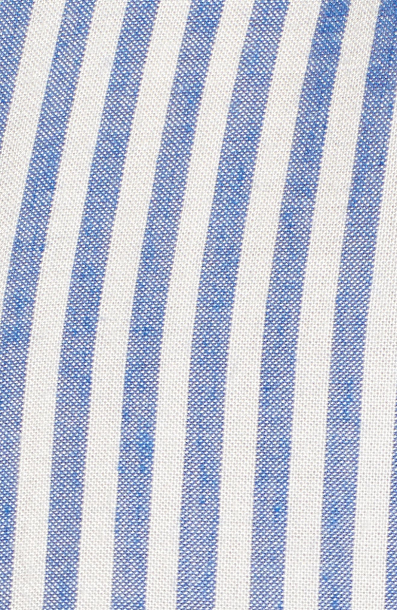 Stripe Top,                             Alternate thumbnail 5, color,                             Denim/ White