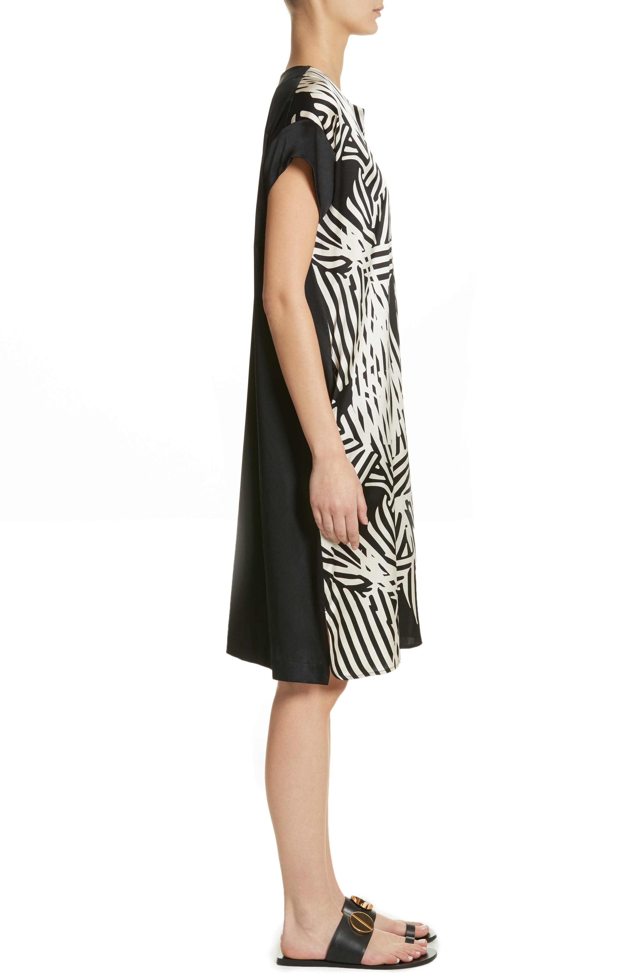 Alternate Image 3  - Zero + Maria Cornejo Bow Print Silk Blend Dress