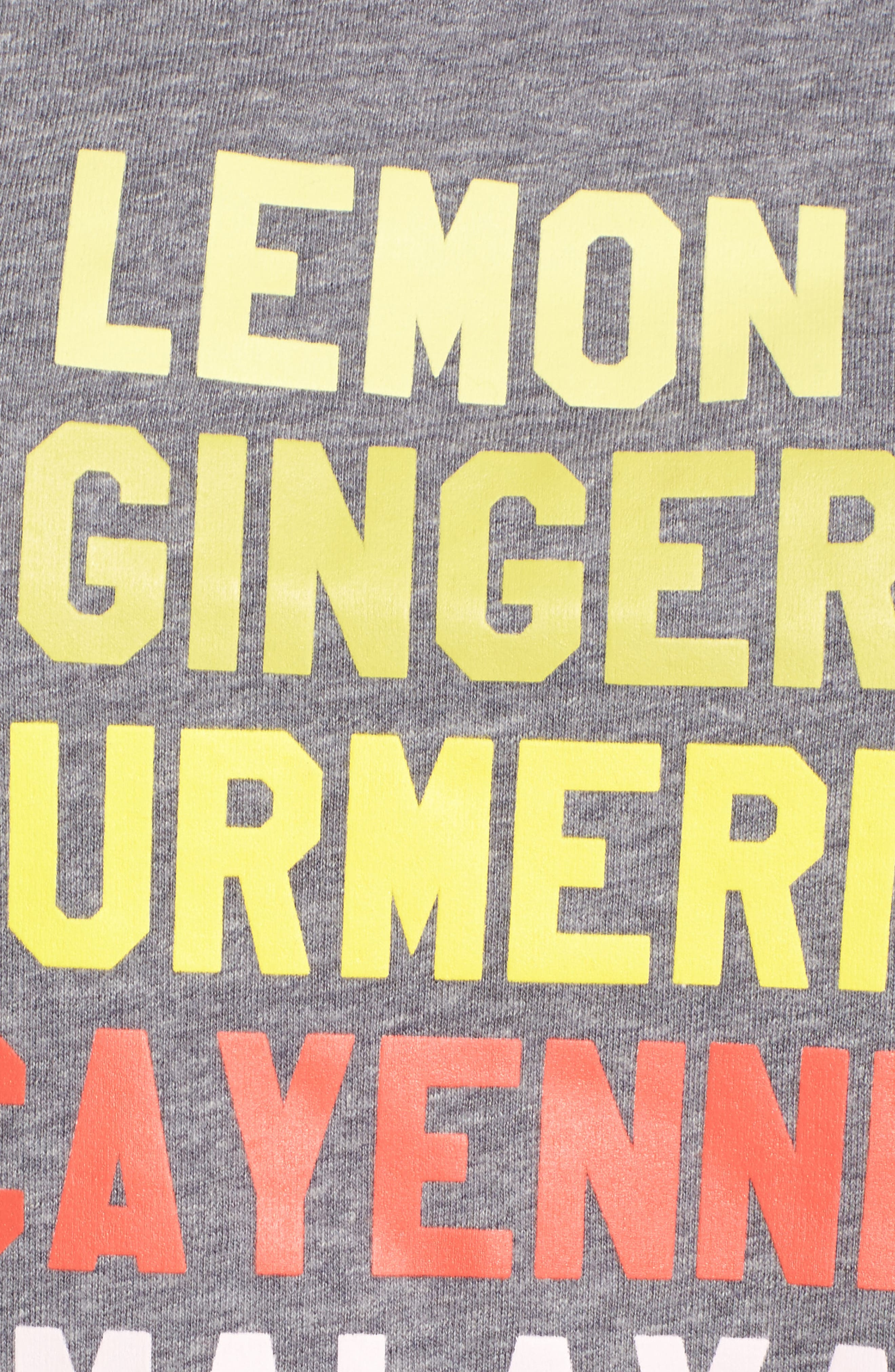 Lemon Ginger Loose Tee,                             Alternate thumbnail 5, color,                             Heather Grey