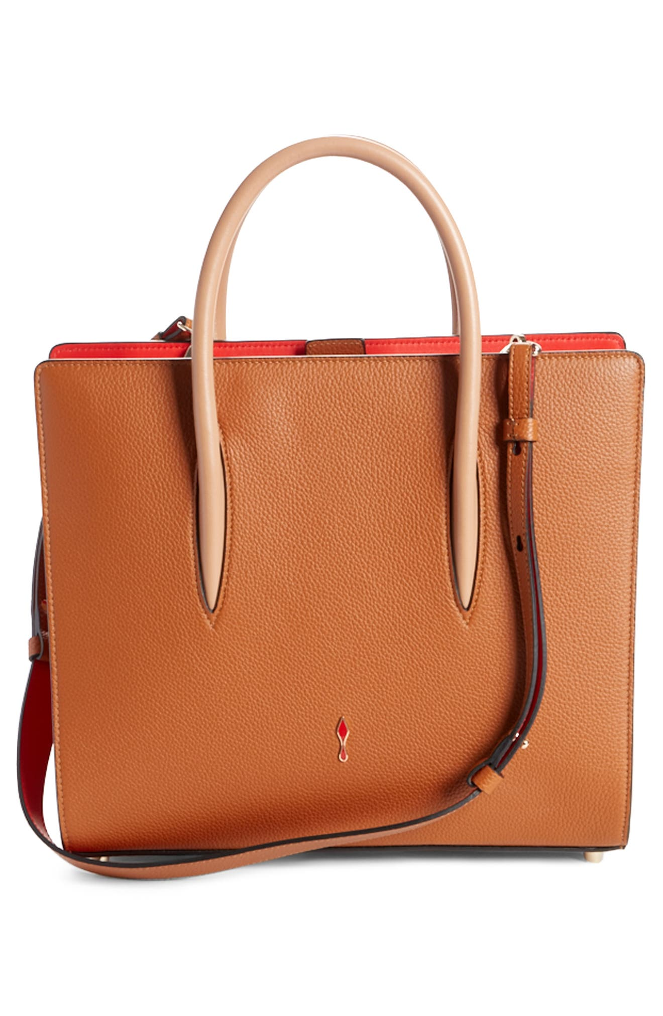 Medium Paloma Loubiwoodstock V Suede & Leather Tote,                             Alternate thumbnail 2, color,                             Cannelle/ Cannelle