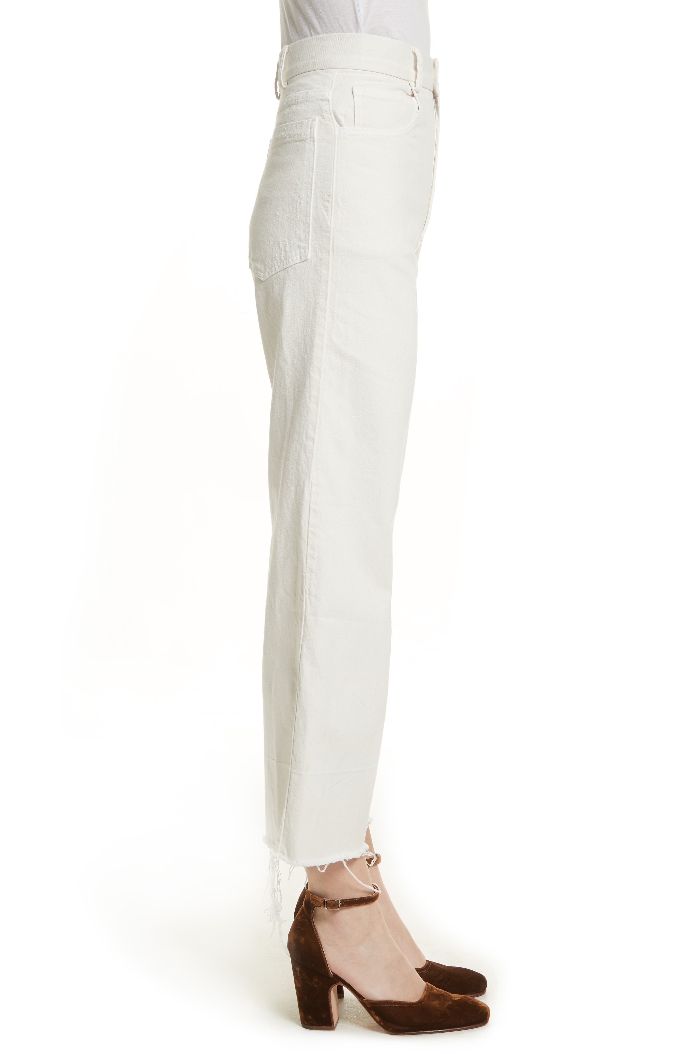 Rachey Comey Legion Crop Wide Leg Pants,                             Alternate thumbnail 3, color,                             Dirty White