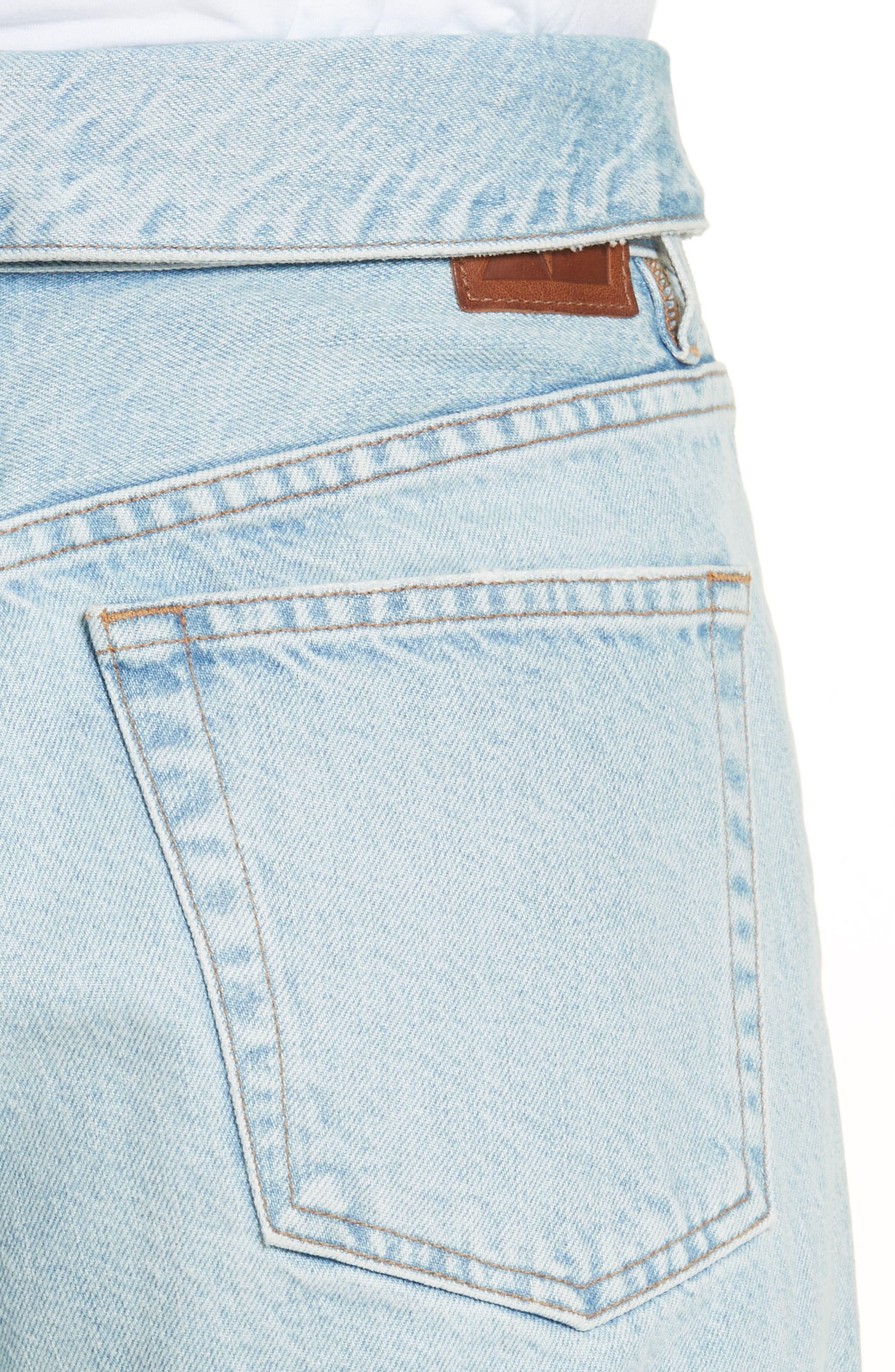 Alternate Image 4  - Jean Atelier Flip Straight Leg Jeans (Sky)