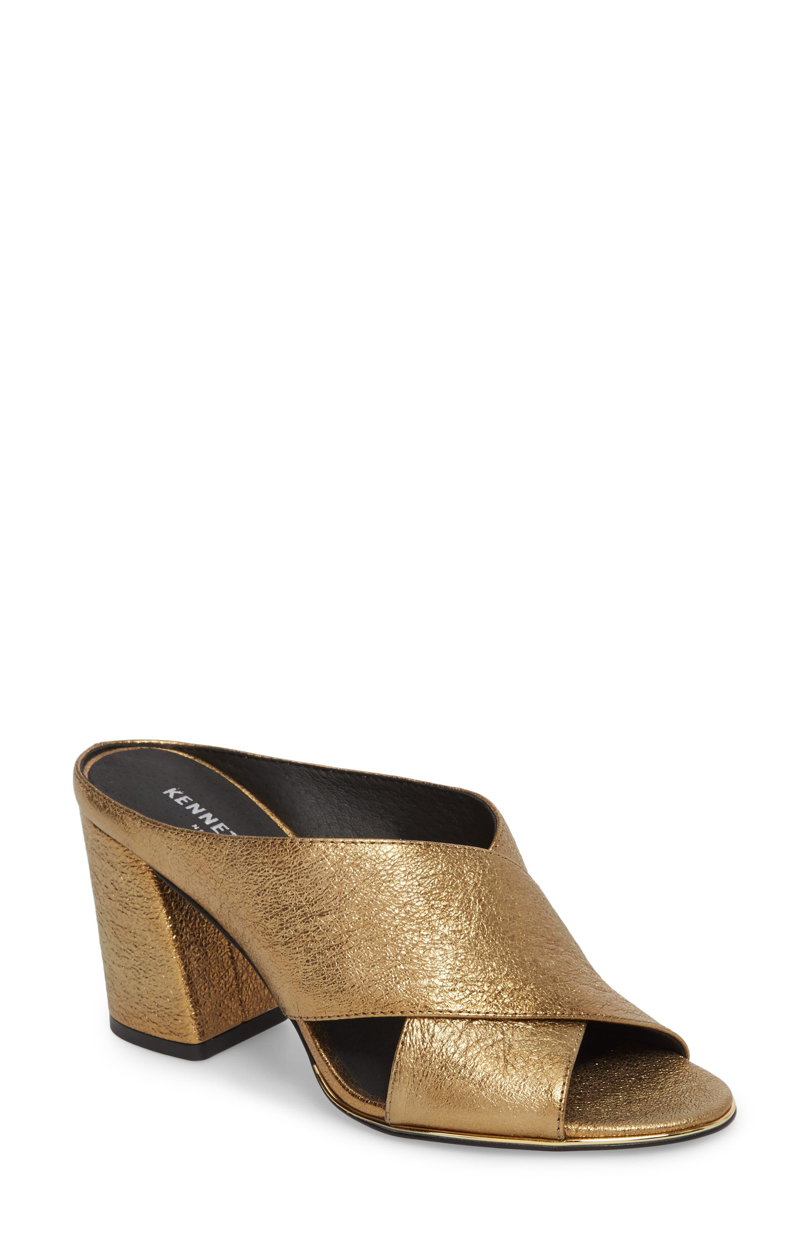 Lyra Sandal,                         Main,                         color, Gold Metallic Leather