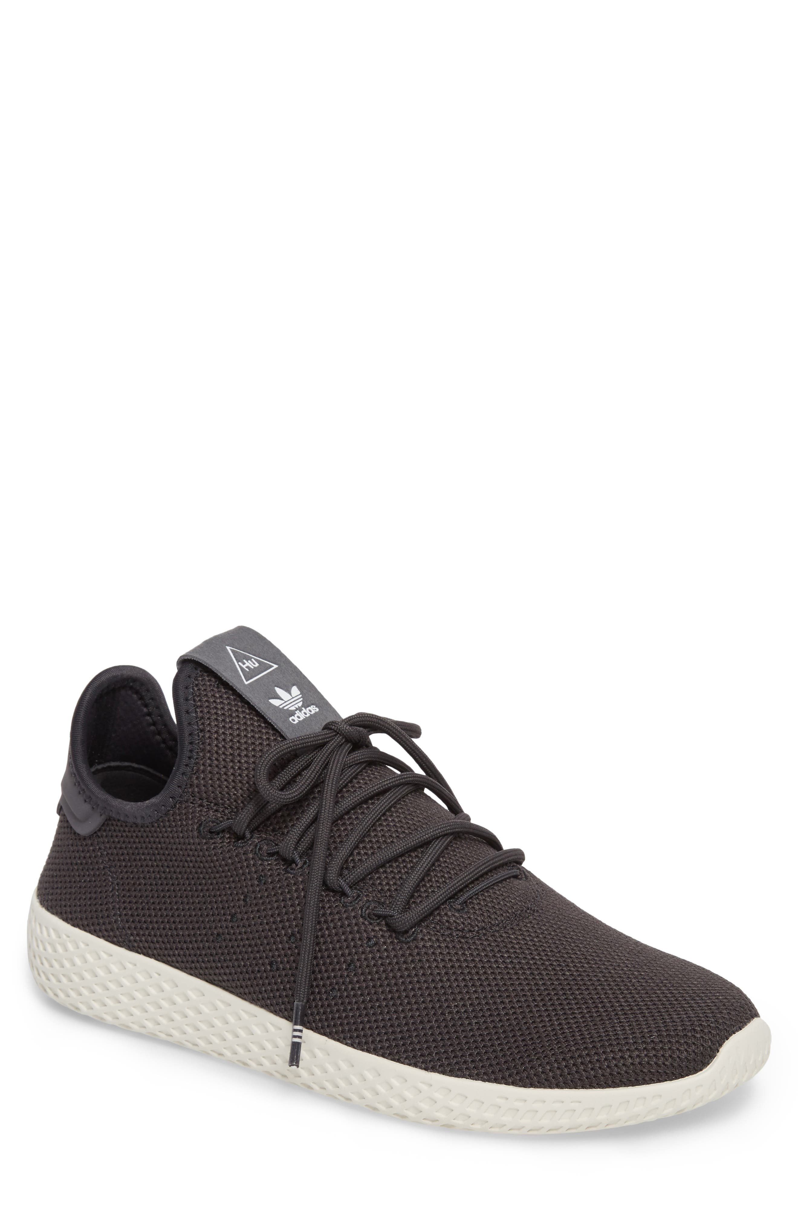 Pharrell Williams Tennis Hu Sneaker,                             Main thumbnail 1, color,                             Carbon / Carbon / Chalk White