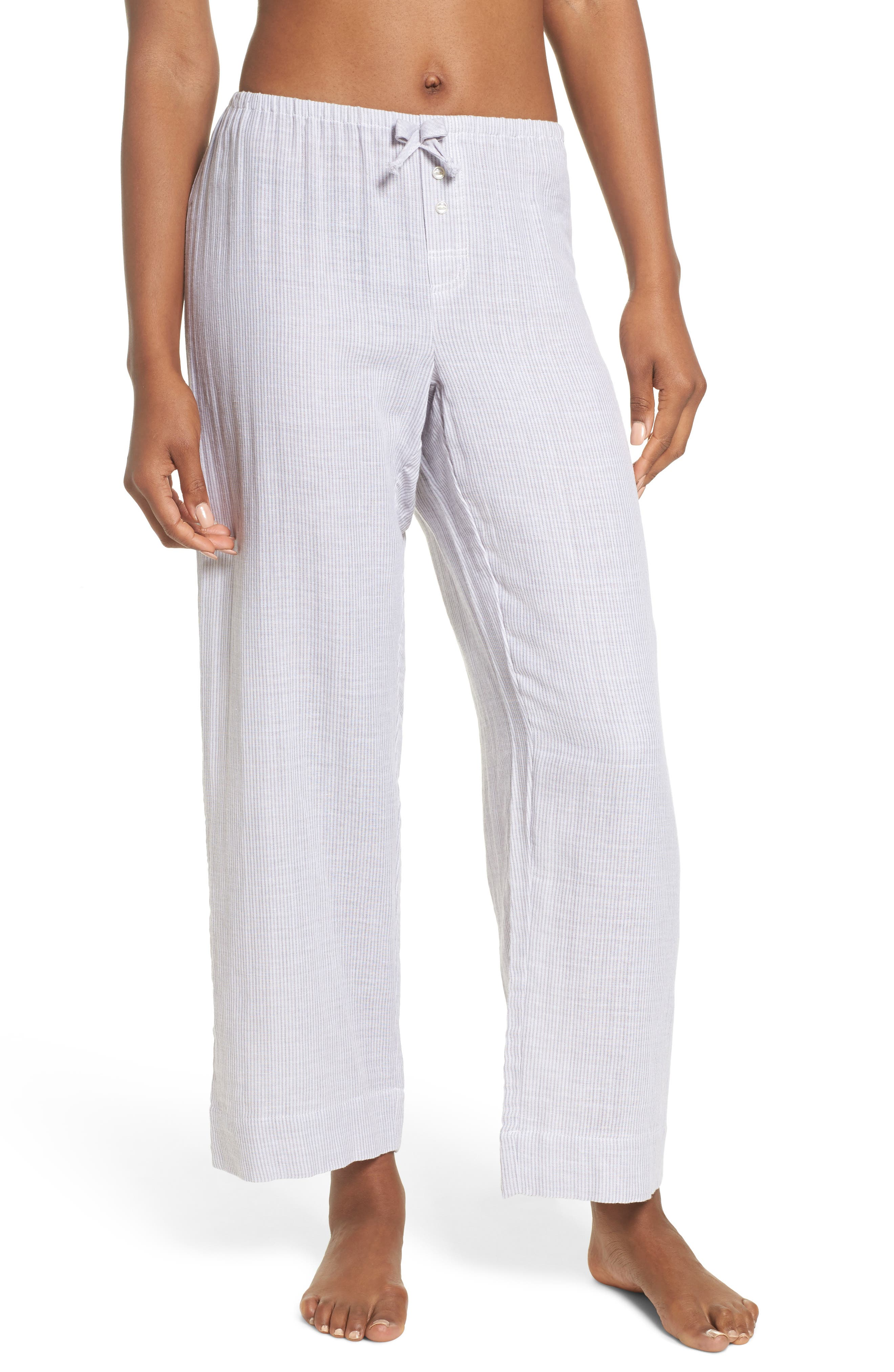 Stripe Pajama Pants,                             Main thumbnail 1, color,                             Grey/ White