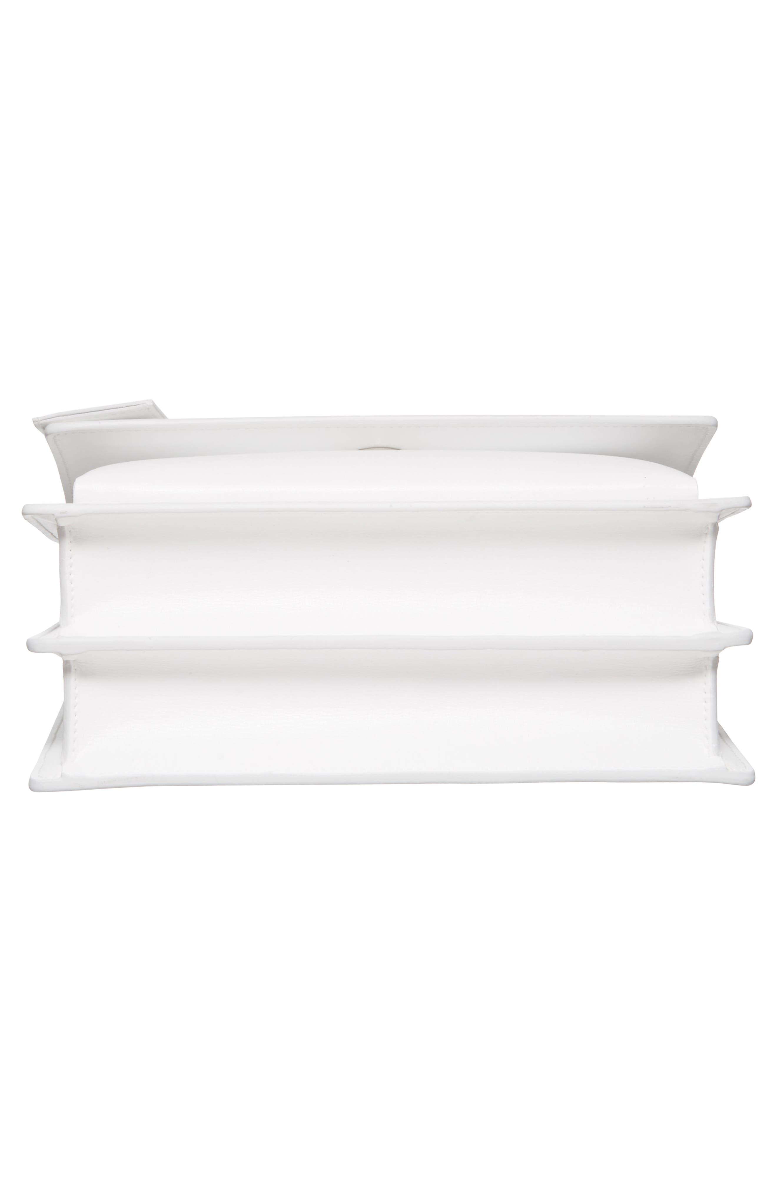 Medium Sunset Calfskin Shoulder Bag,                             Alternate thumbnail 5, color,                             Optic White