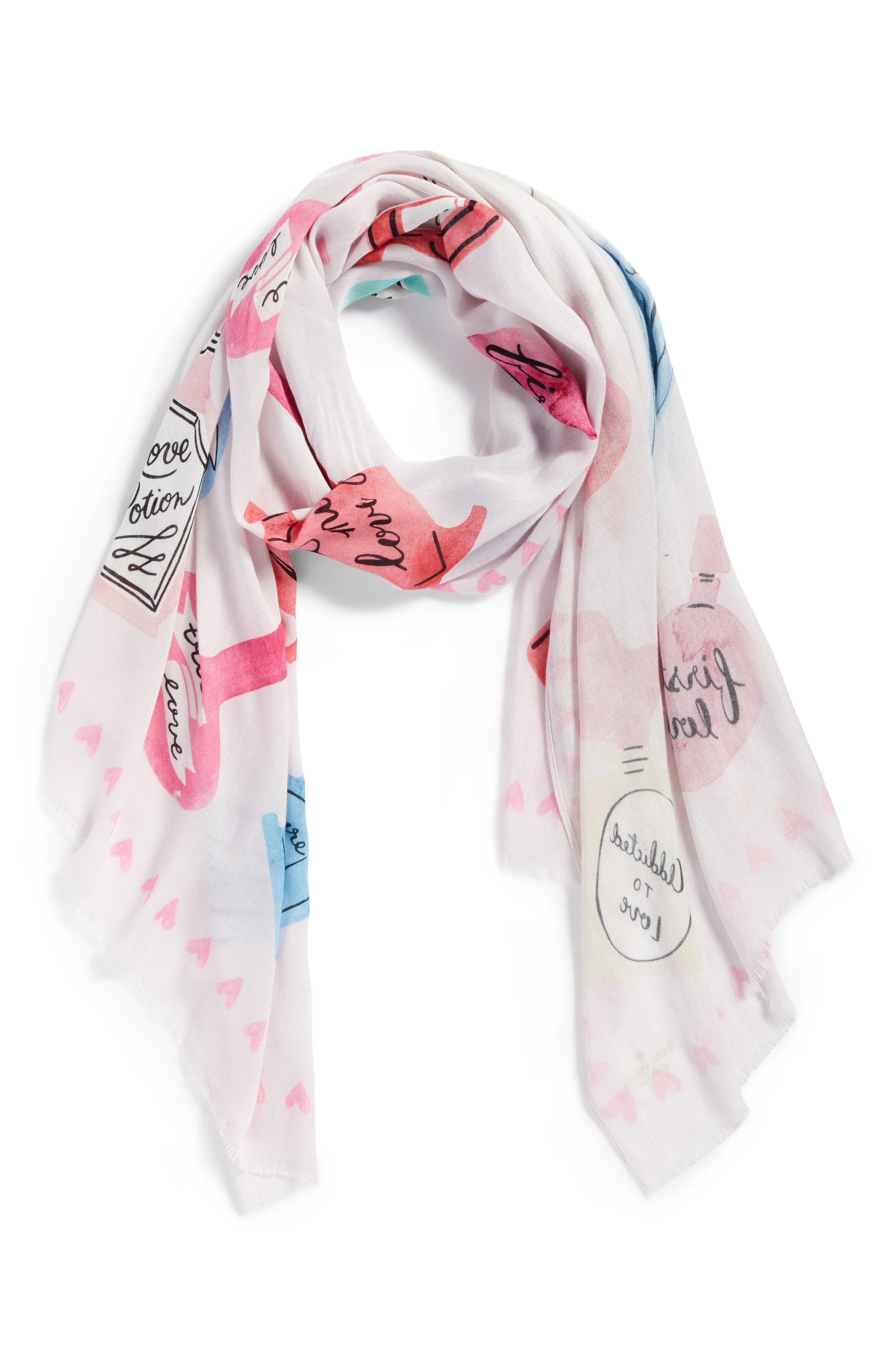 love potions scarf,                             Alternate thumbnail 3, color,                             Valentine Pink