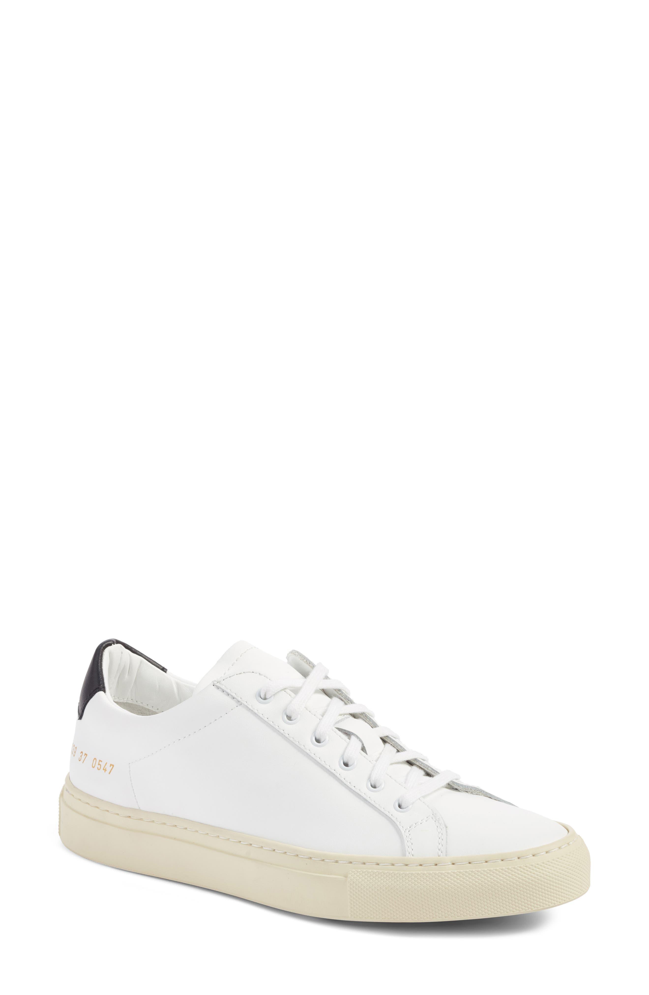 Achilles Low Top Sneaker,                         Main,                         color, White/ Black