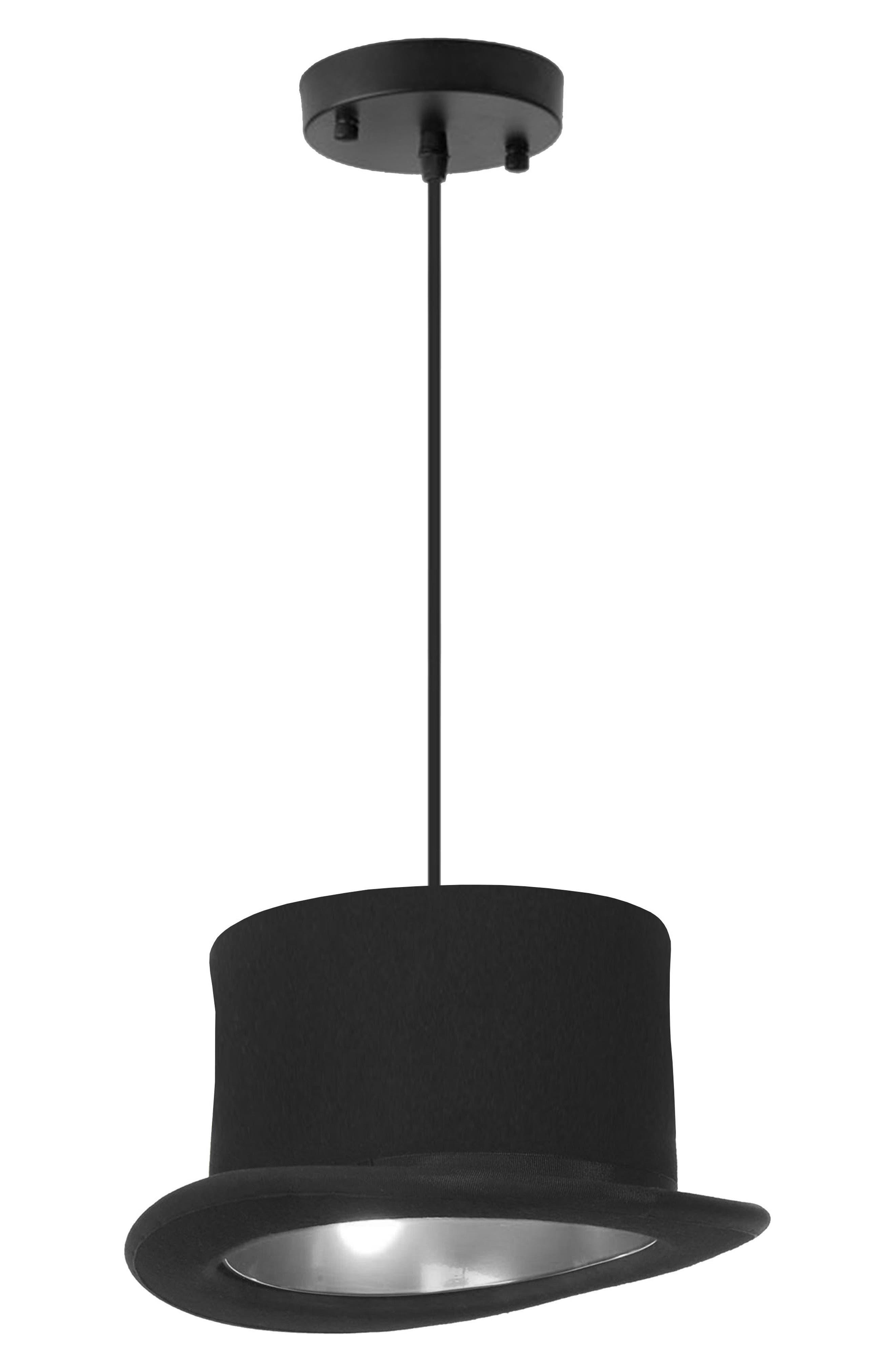 Langley Top Hat Ceiling Fixture,                             Main thumbnail 1, color,                             Black