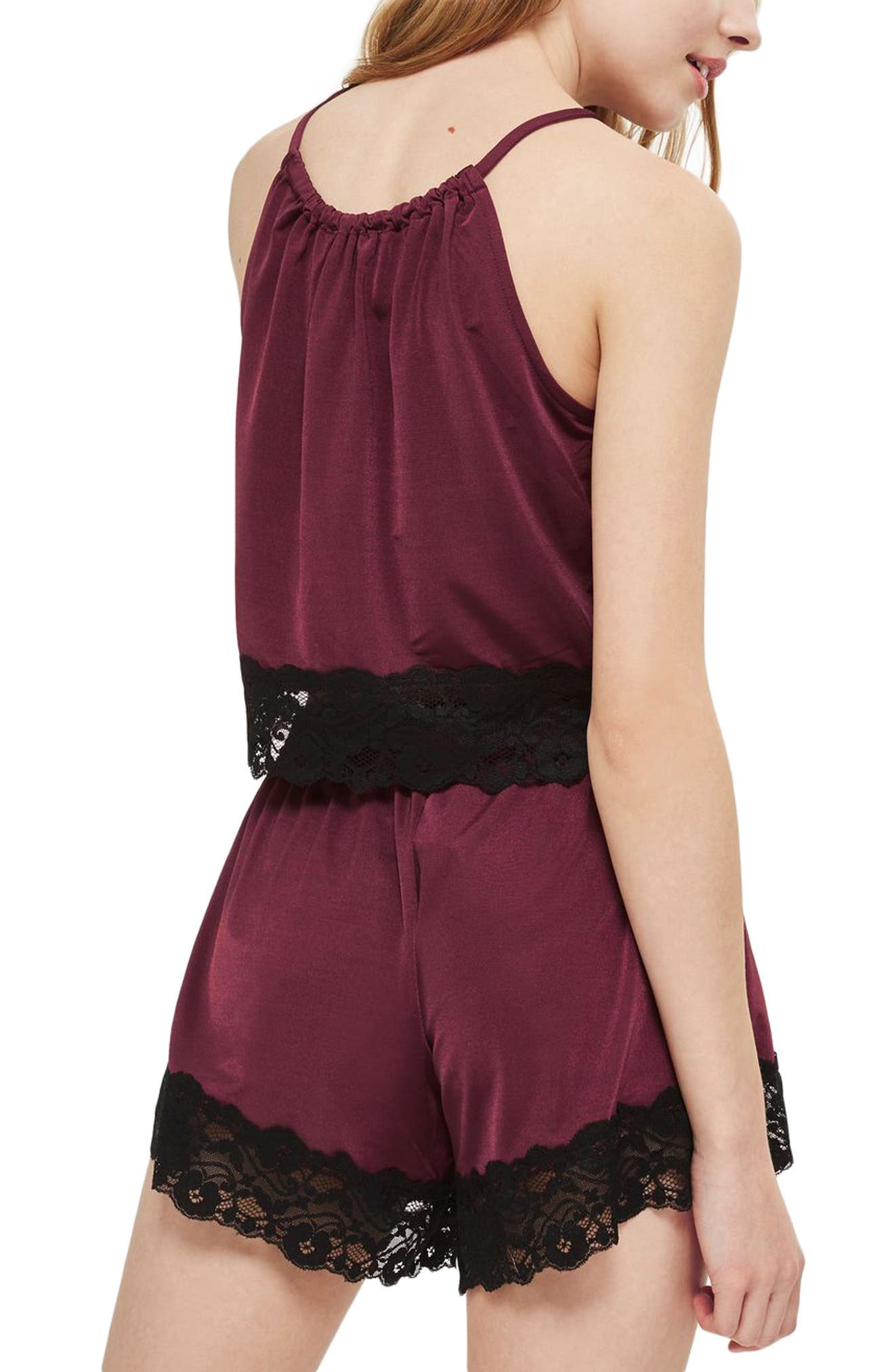 Alternate Image 2  - Topshop Satin & Lace Camisole