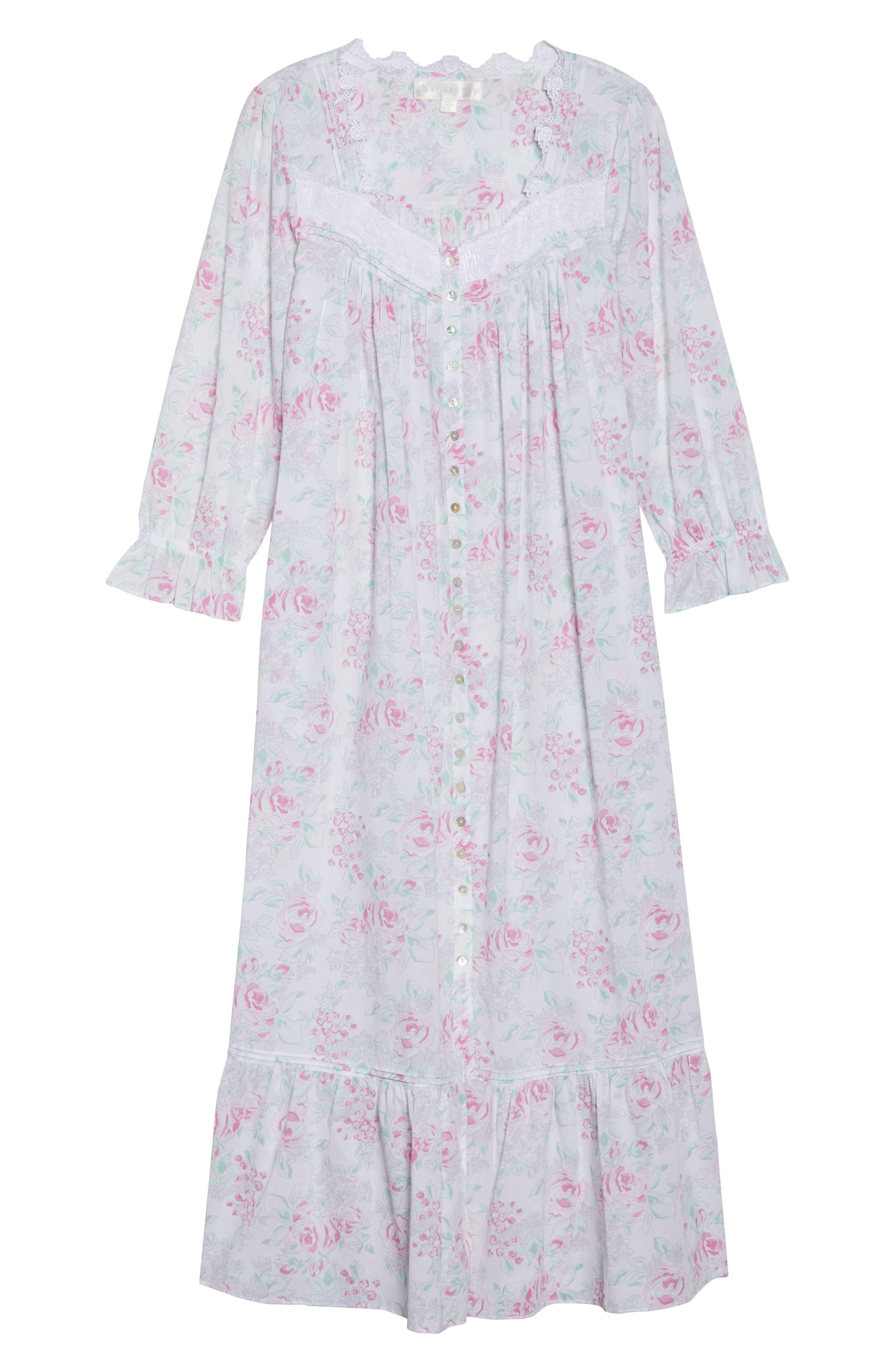 Alternate Image 4  - Eileen West Button Front Cotton Nightgown