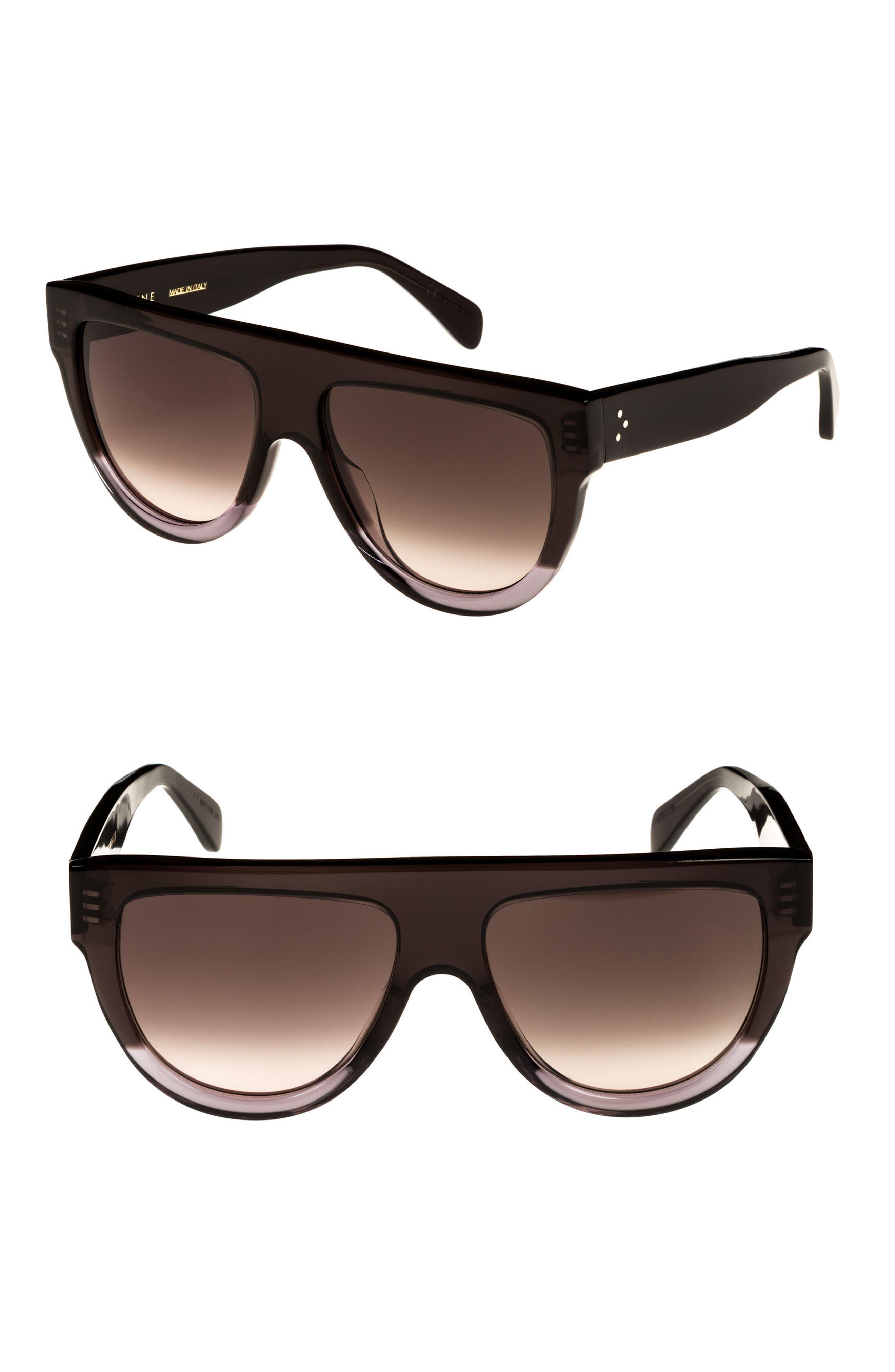 Céline Special Fit 60mm Flat Top Sunglasses