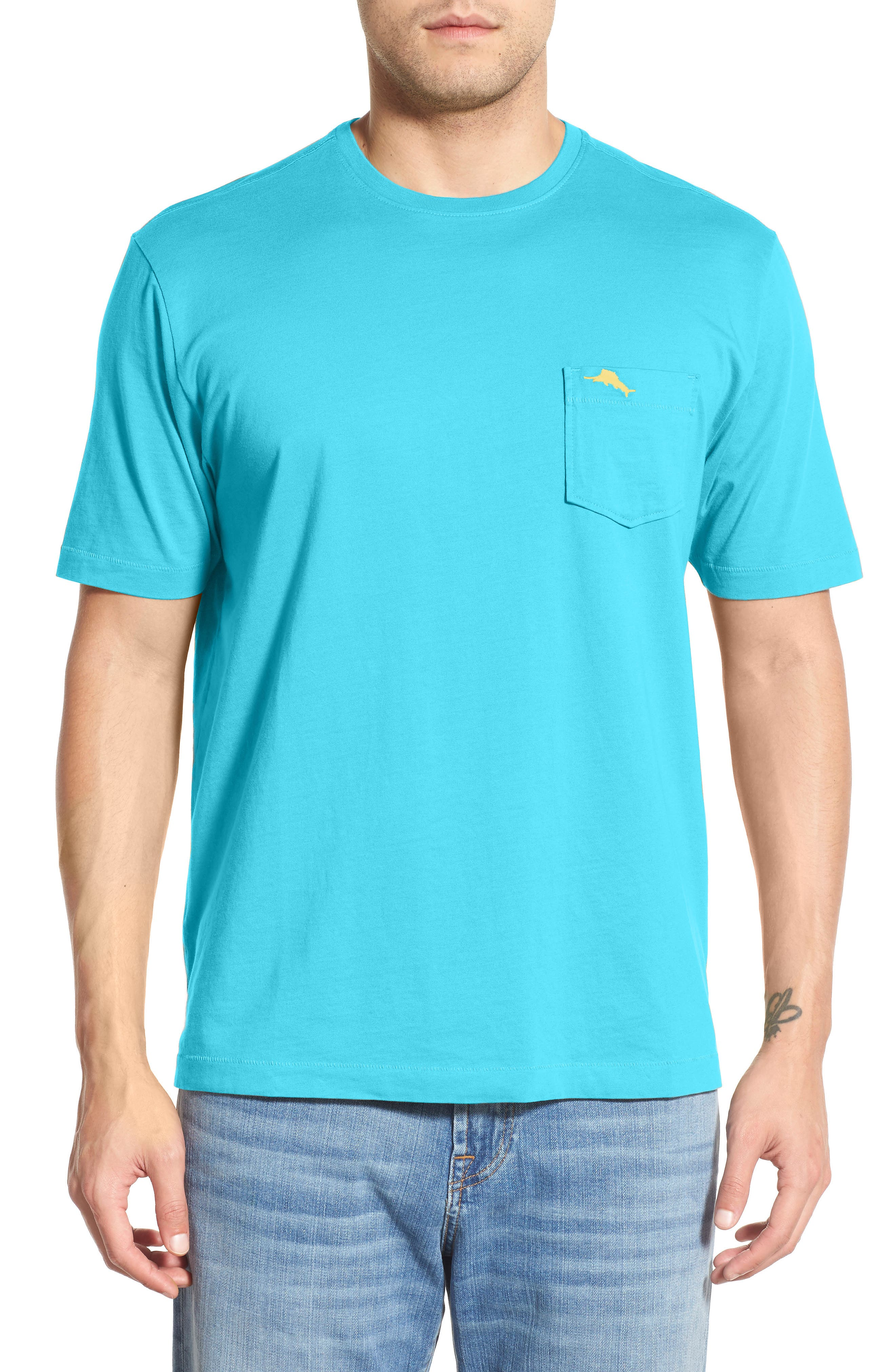 Bali Skyline T-Shirt,                             Main thumbnail 1, color,                             Aqua Mist