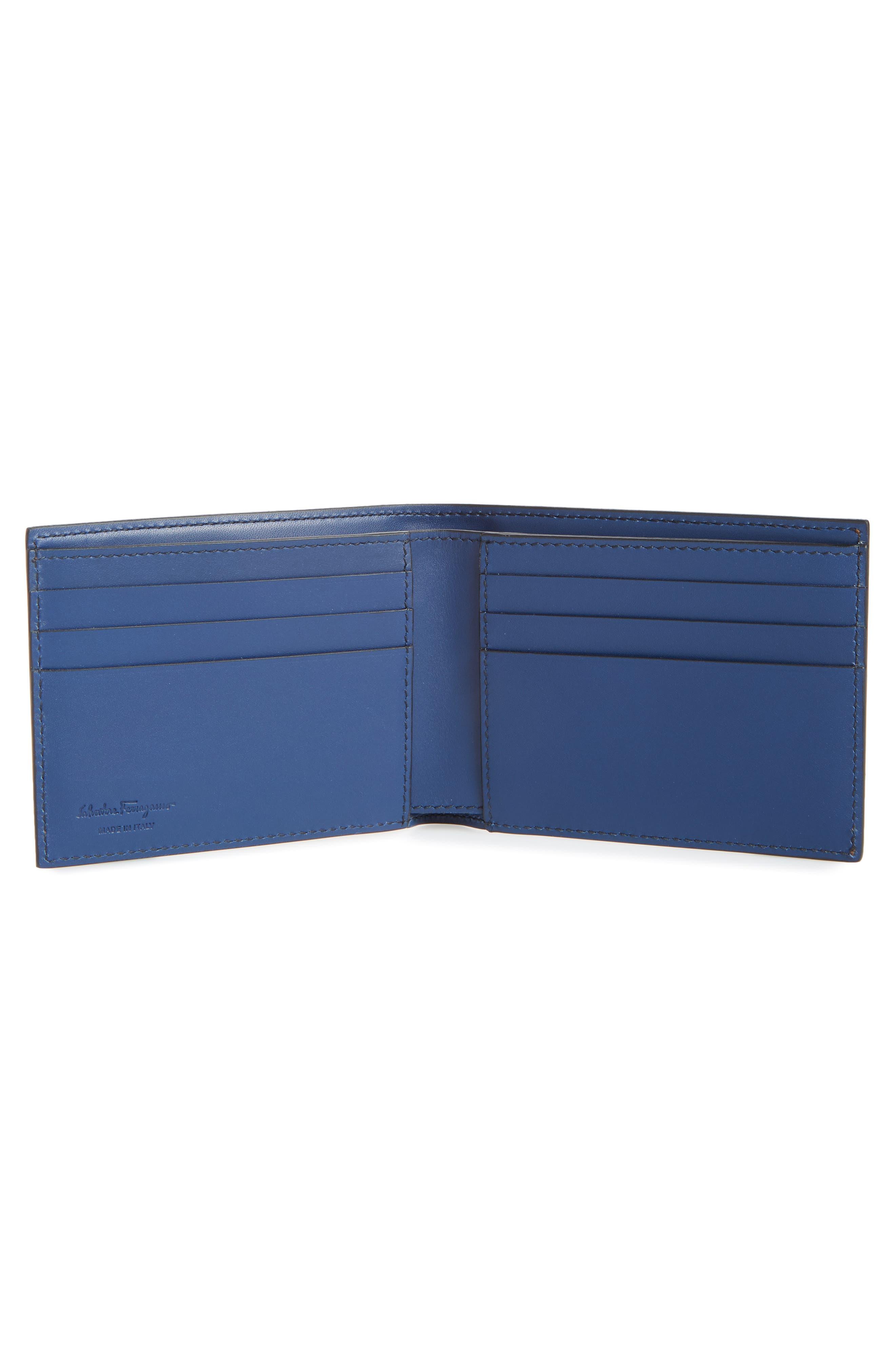 Calfskin Leather Bifold Wallet,                             Alternate thumbnail 2, color,                             Radica