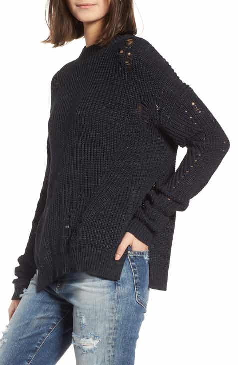 Chaus Roll Tab Heathered Rib Cardigan by CHAUS