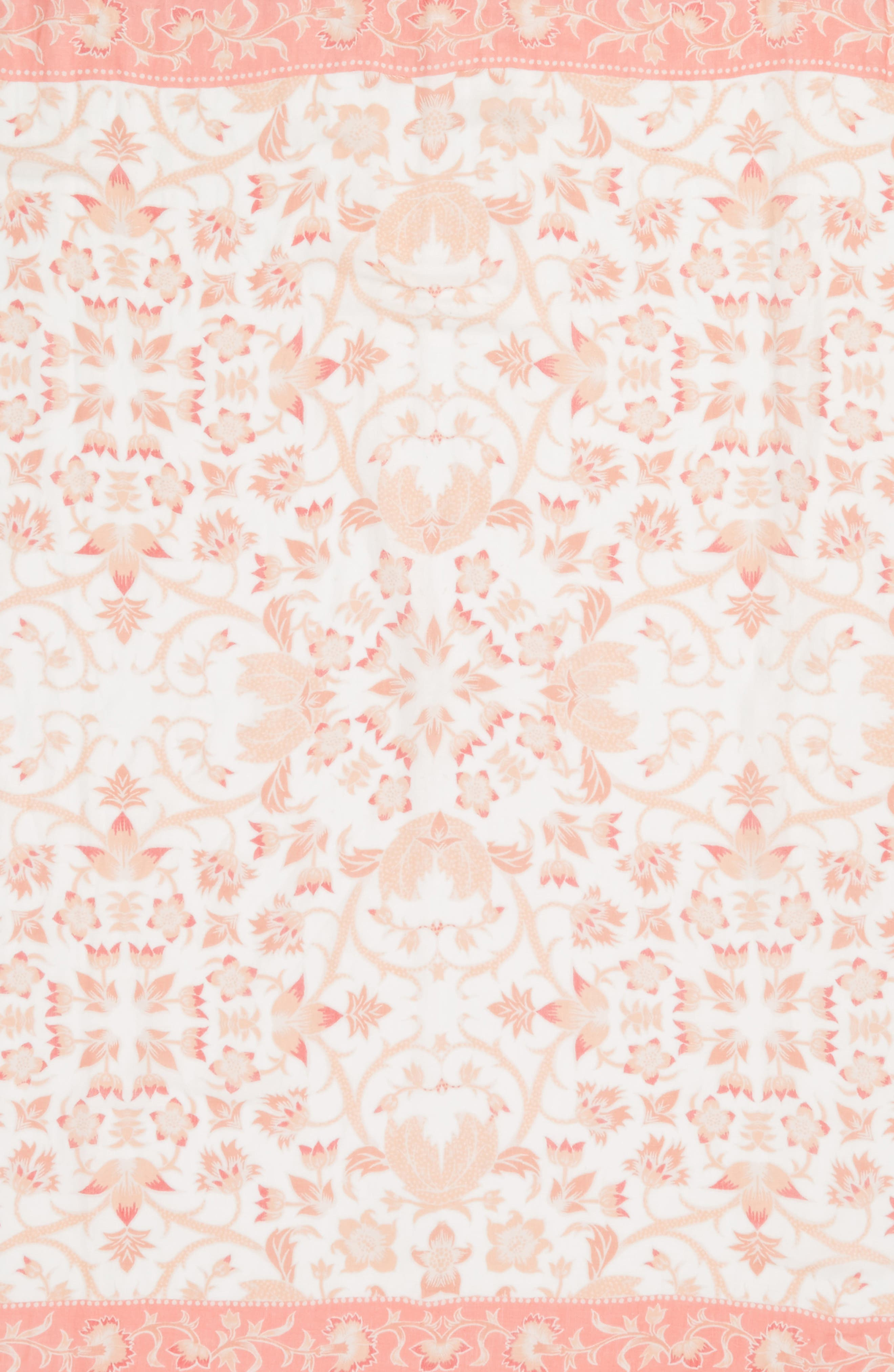 Mixed Print Scarf,                             Alternate thumbnail 4, color,                             Coral Floral Breeze