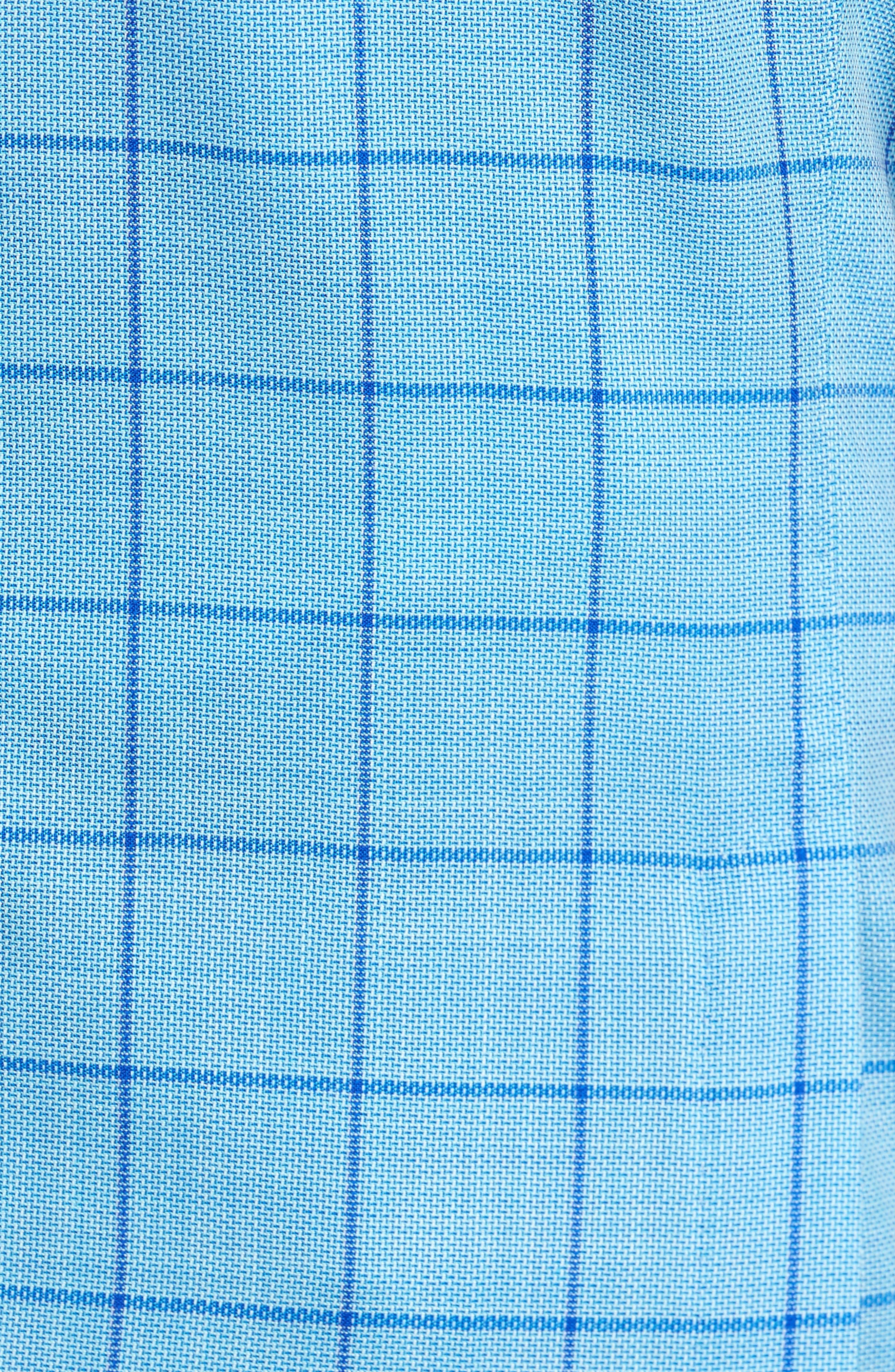 Trent Trim Fit Windowpane Wool Sport Coat,                             Alternate thumbnail 5, color,                             Blue
