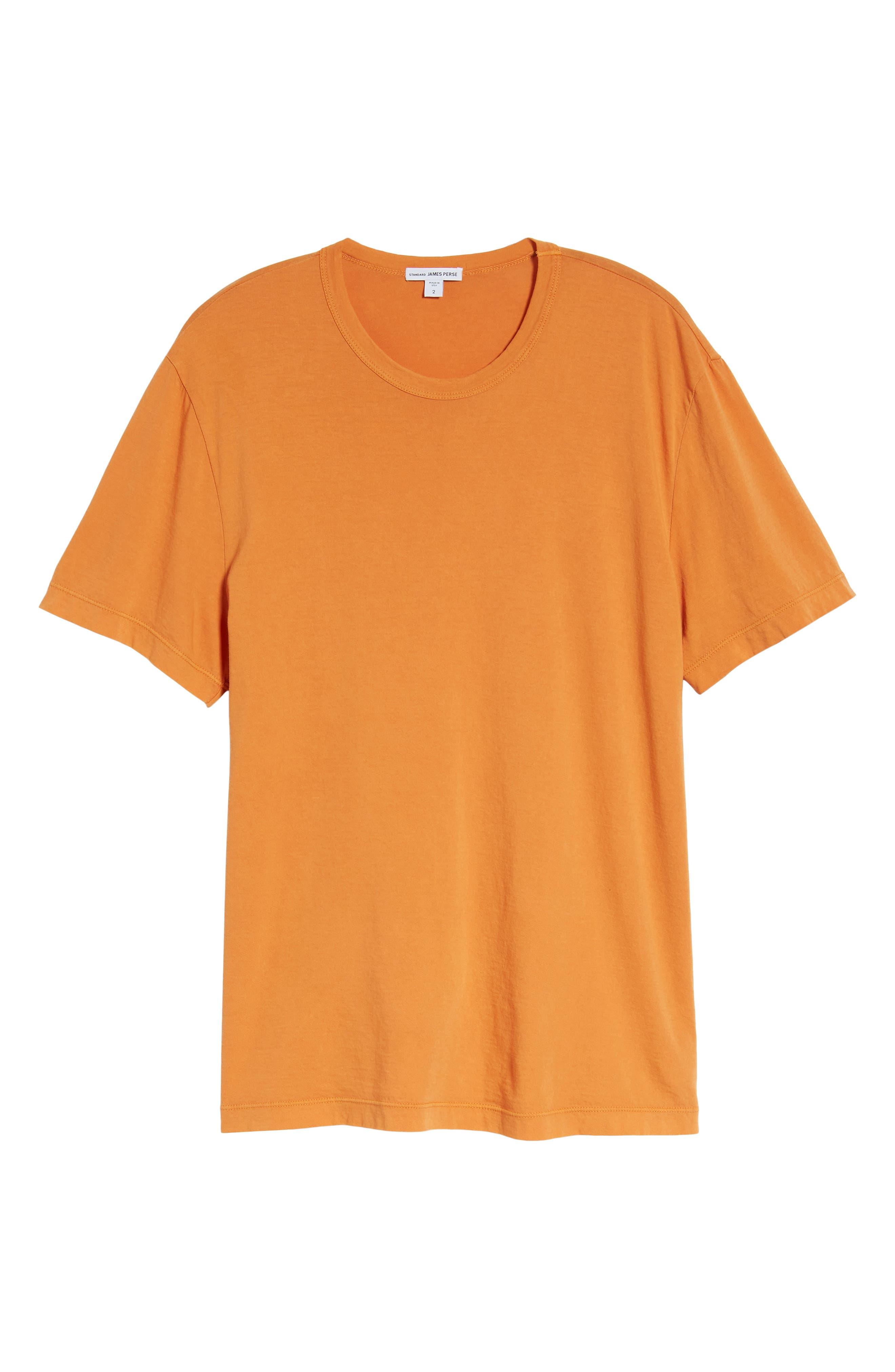 Crewneck Jersey T-Shirt,                             Alternate thumbnail 6, color,                             Goldfish Pigment