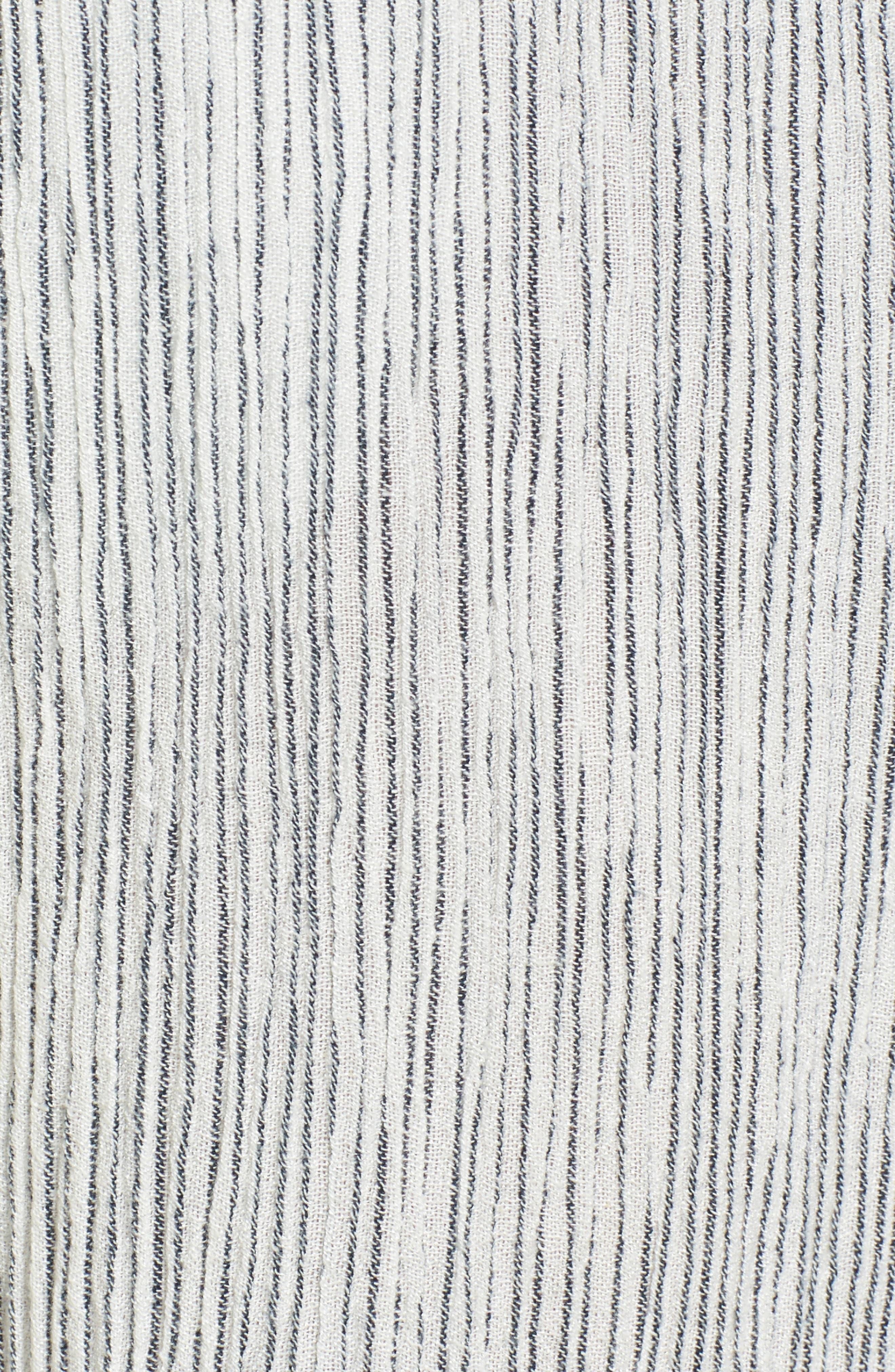 Crinkled Wide Leg Crop Pants,                             Alternate thumbnail 6, color,                             Ivory Angel Stripe