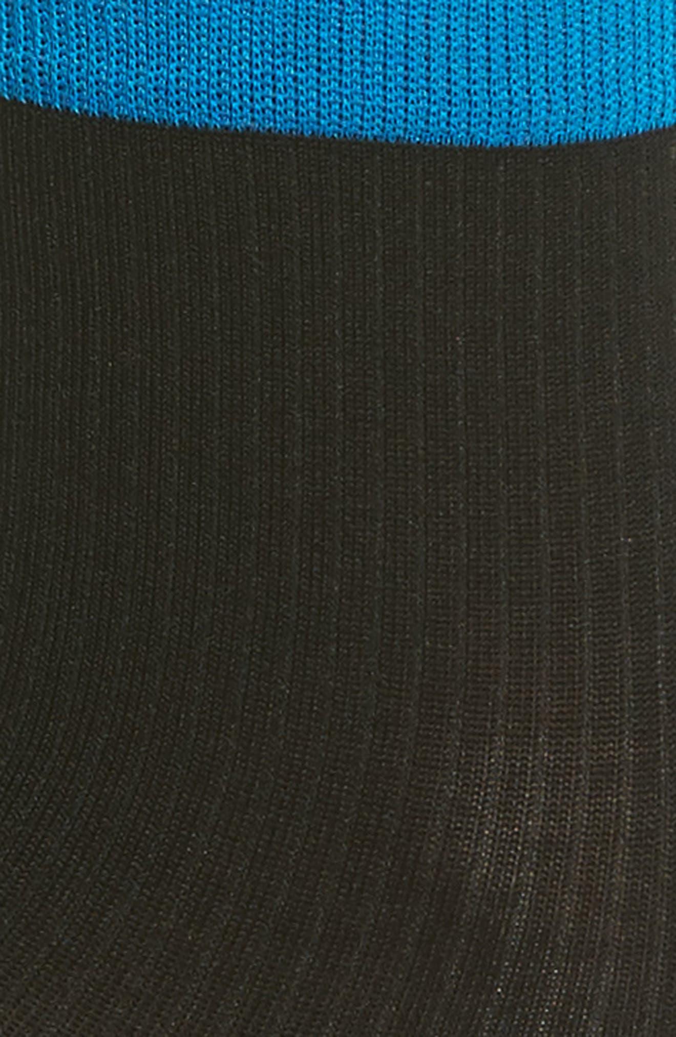 Lily Rib Ankle Socks,                             Alternate thumbnail 2, color,                             Black