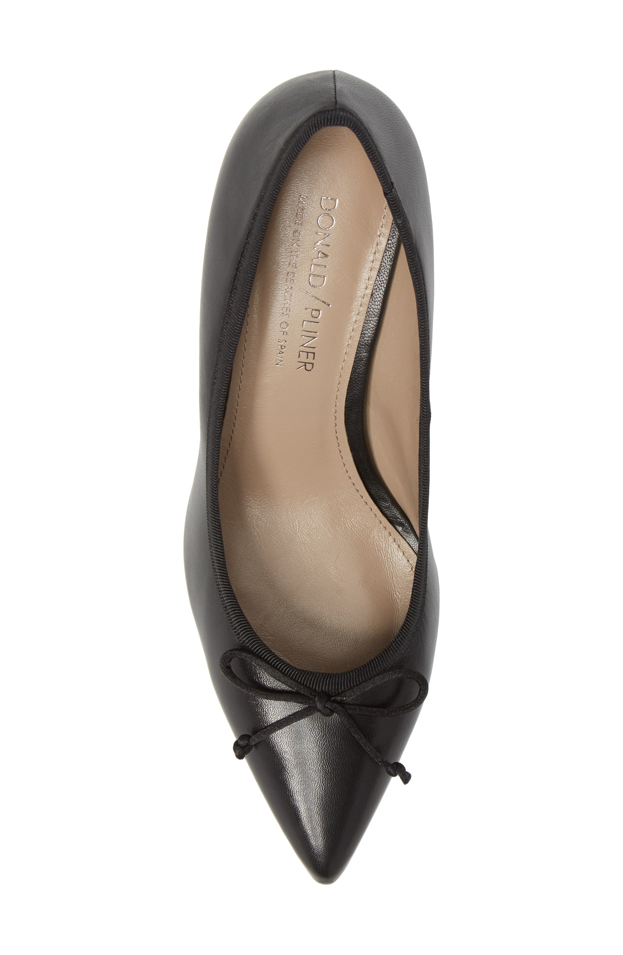 Asia Pointy Toe Pump,                             Alternate thumbnail 5, color,                             Black Leather